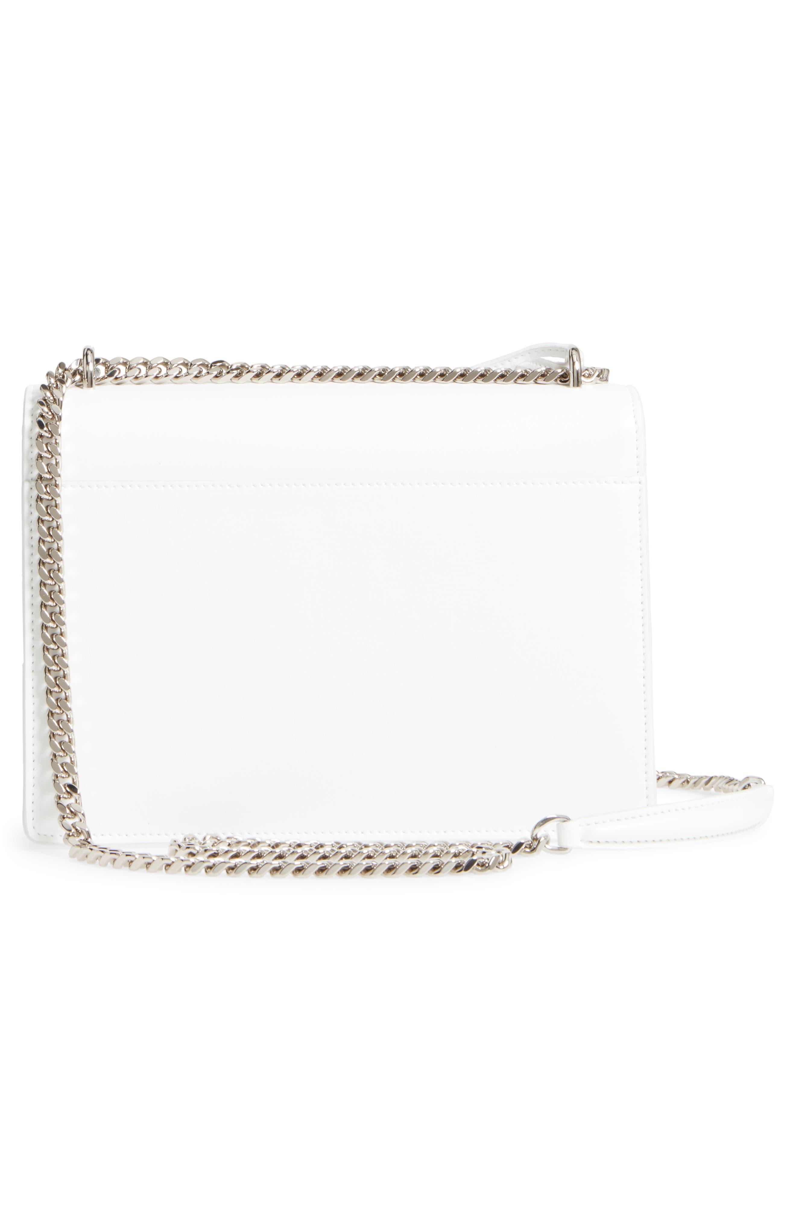 Medium Sunset Calfskin Shoulder Bag,                             Alternate thumbnail 2, color,                             Optic White