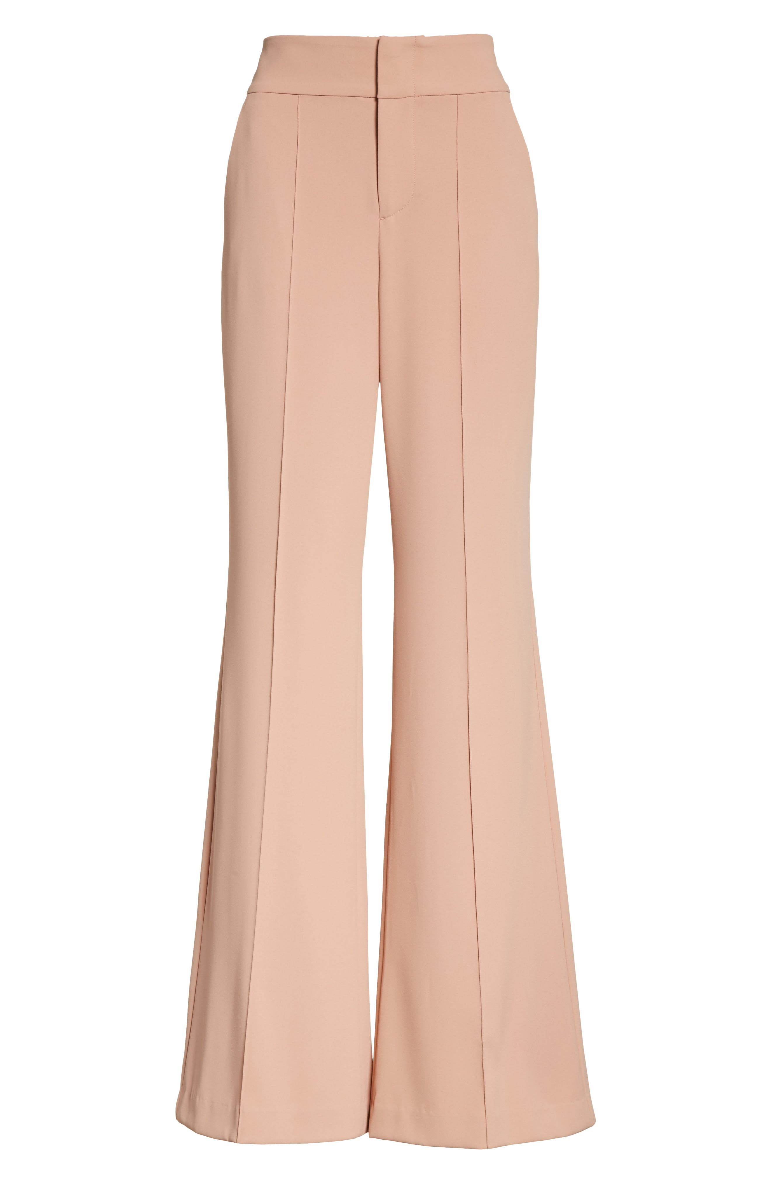 Alternate Image 6  - Alice + Olivia Dawn High Waist Front Pintuck Flared Pants