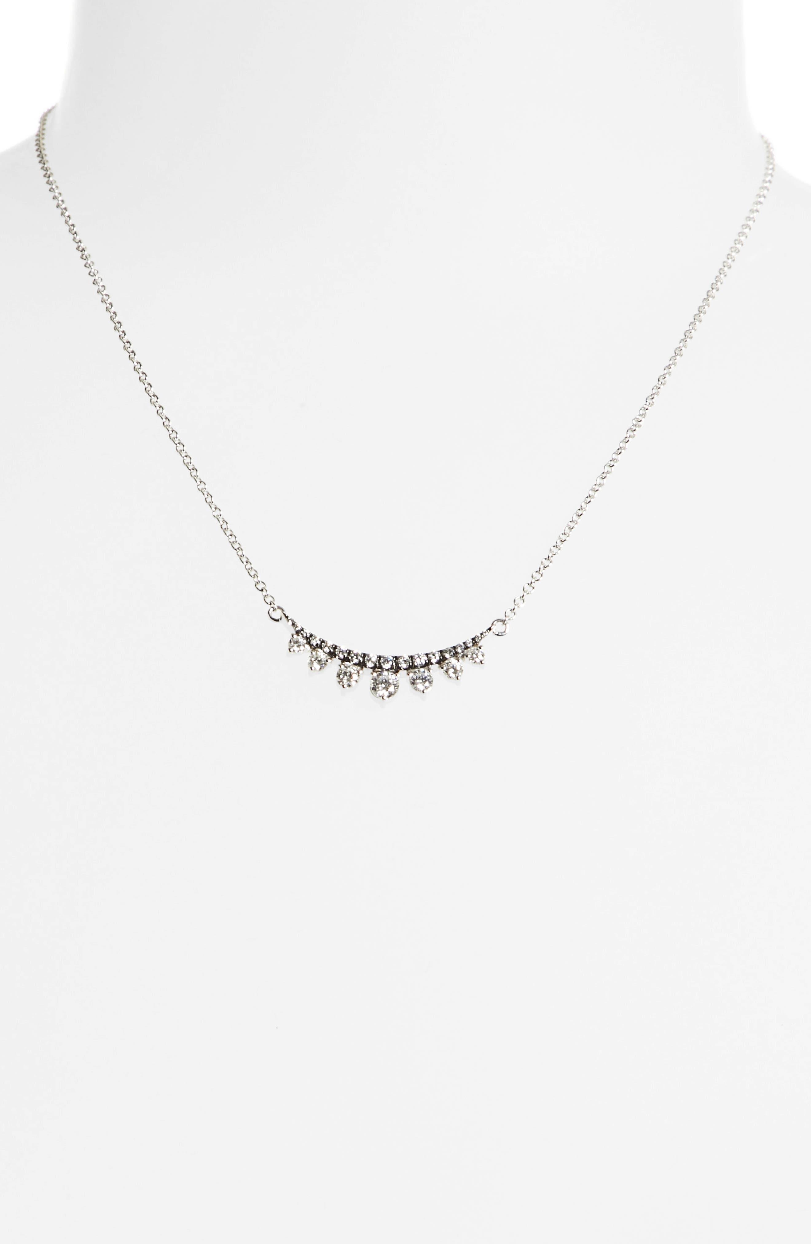 Prive Luxe 18K White Gold & Diamond Necklace,                         Main,                         color, Diamond/Black Rhodium