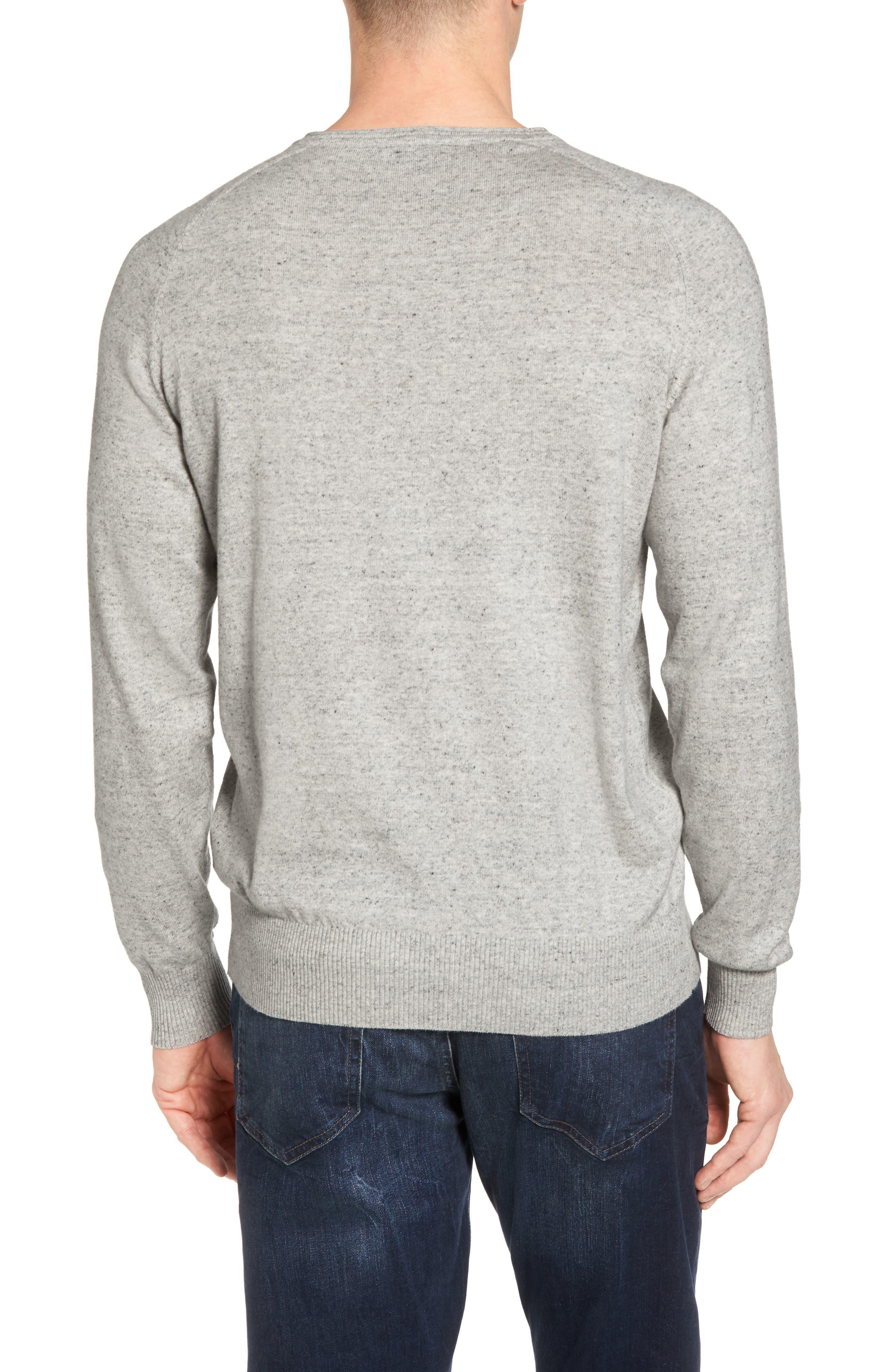 Arbors Cotton V-Neck Sweater,                             Alternate thumbnail 2, color,                             Oatmeal