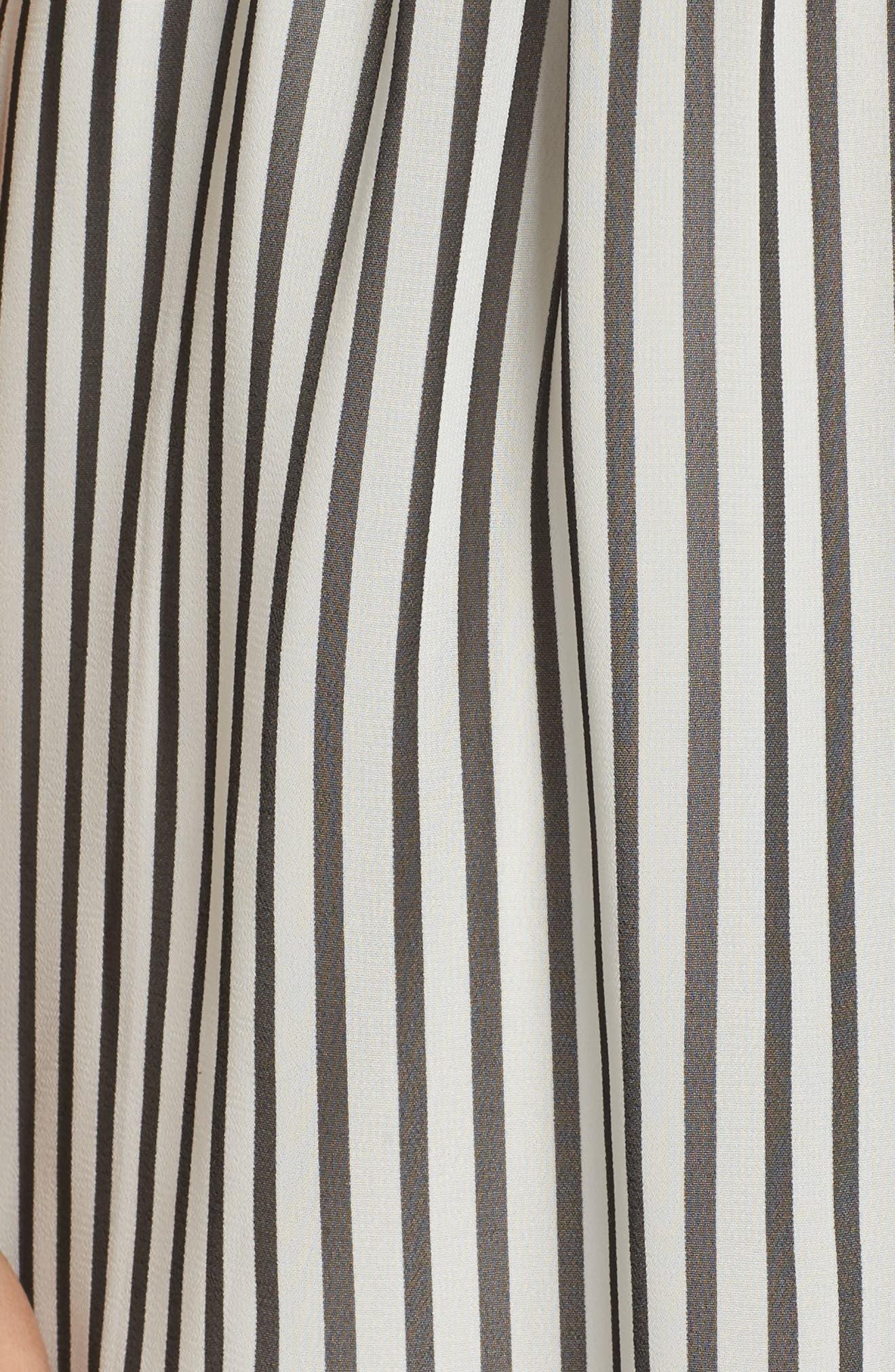 Toes in the Sand Romper,                             Alternate thumbnail 6, color,                             Black/ White Stripe