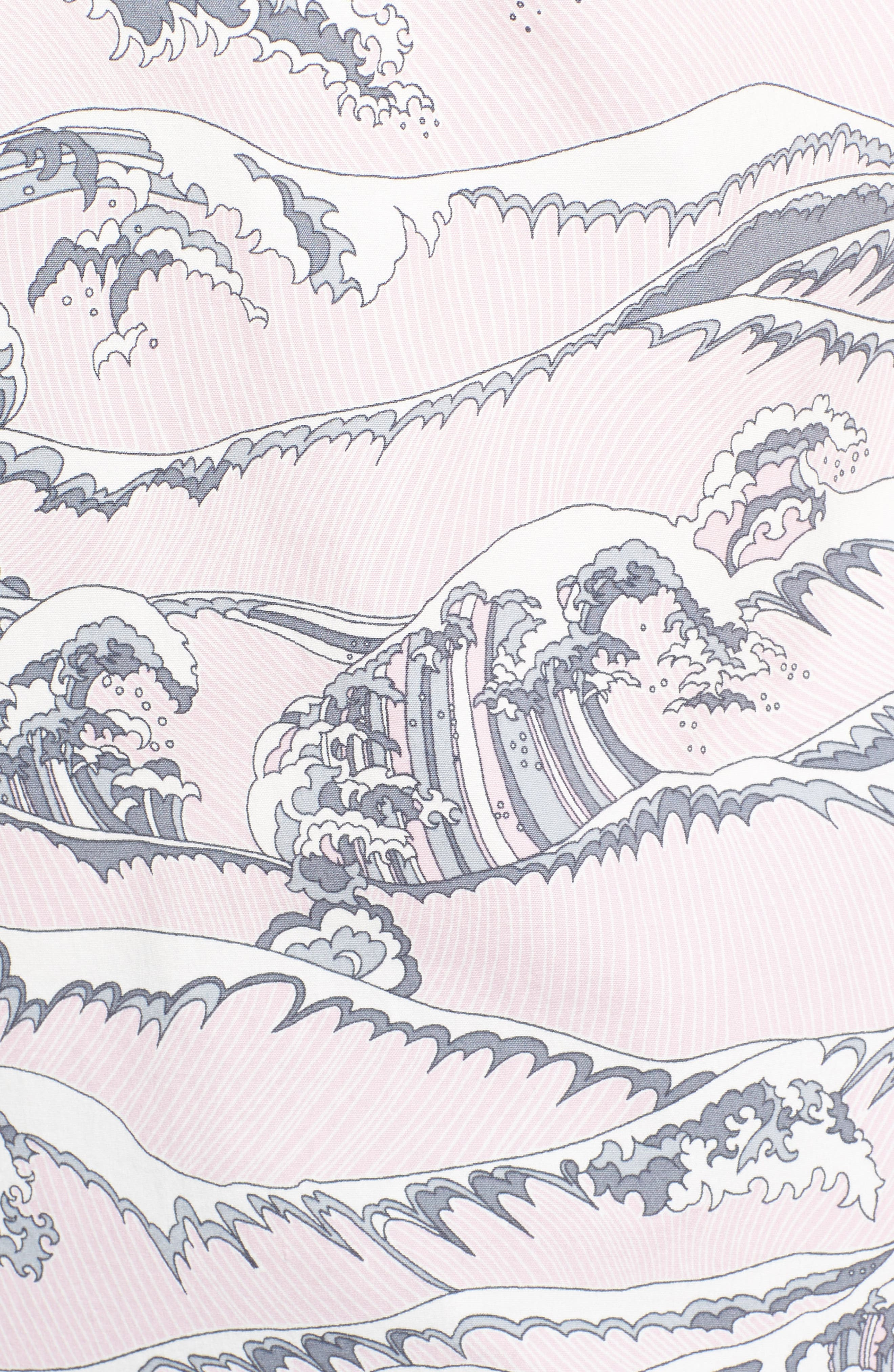Overboard Trim Fit Print Sport Shirt,                             Alternate thumbnail 5, color,                             Pink