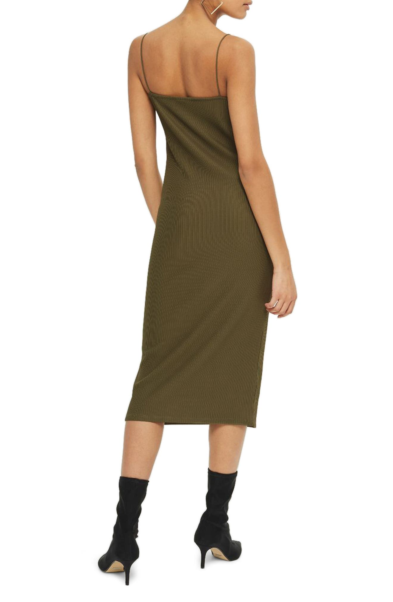 Alternate Image 2  - Topshop Square Neck Body-Con Midi Dress