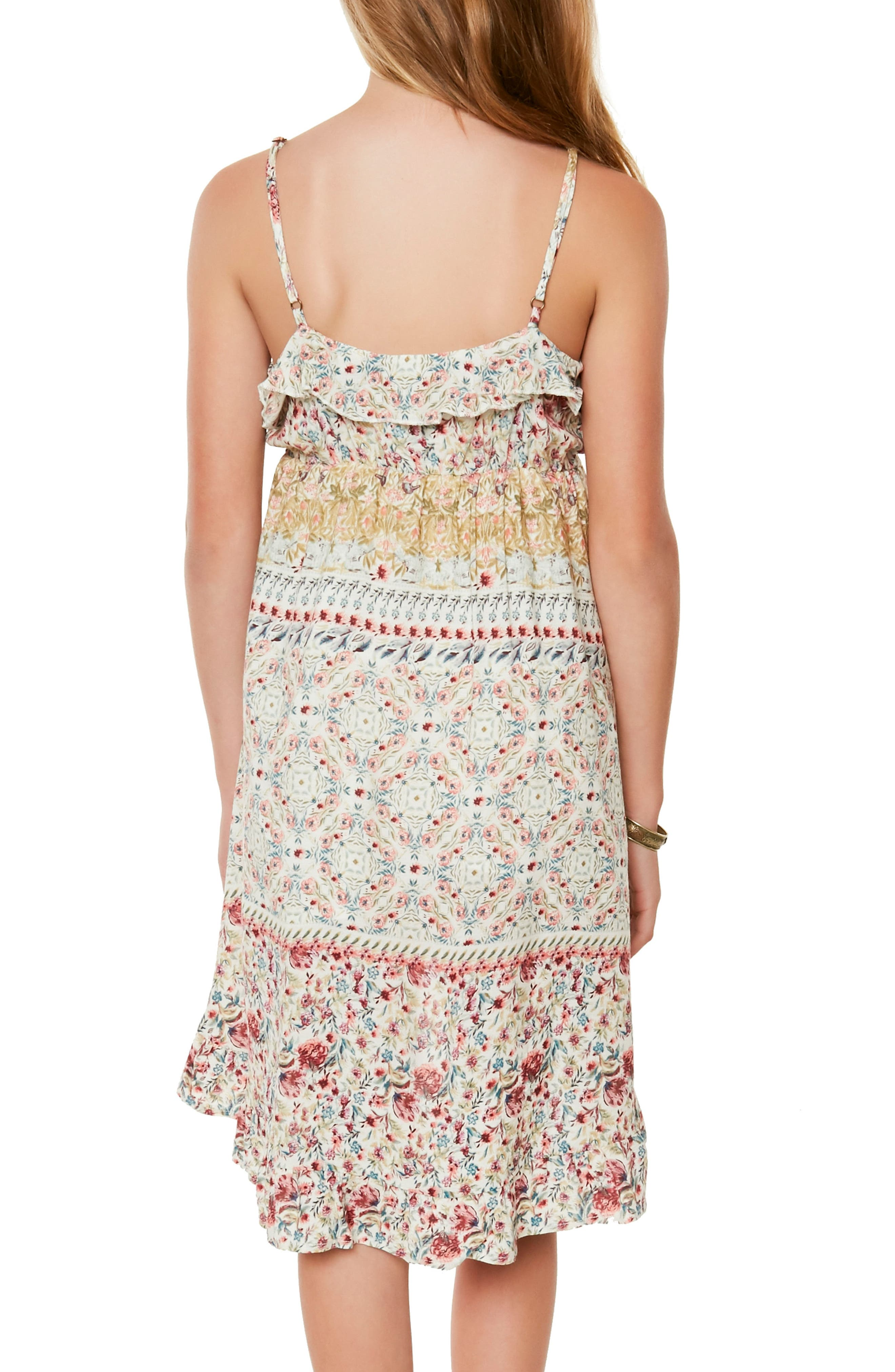 Brooklyn Mixed Print Sundress,                             Alternate thumbnail 5, color,                             Naked - Wwh