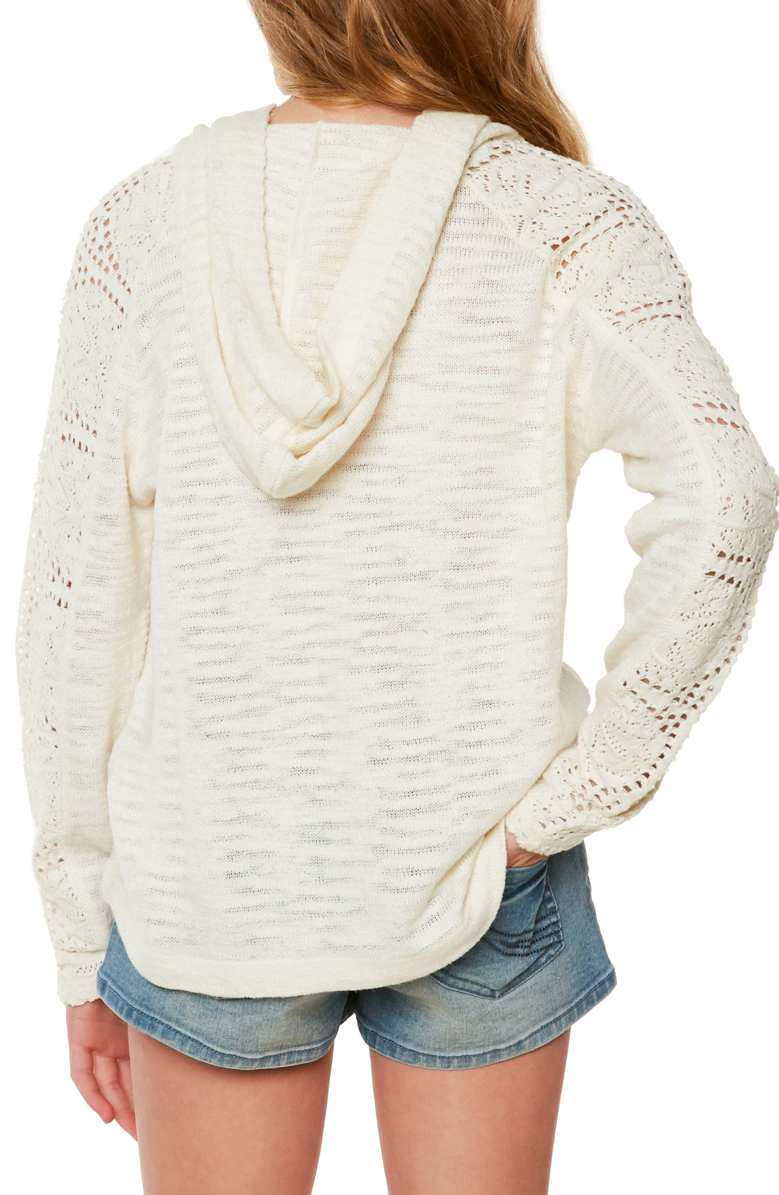 Amore Hooded Sweater,                             Alternate thumbnail 2, color,                             Naked - Wwh