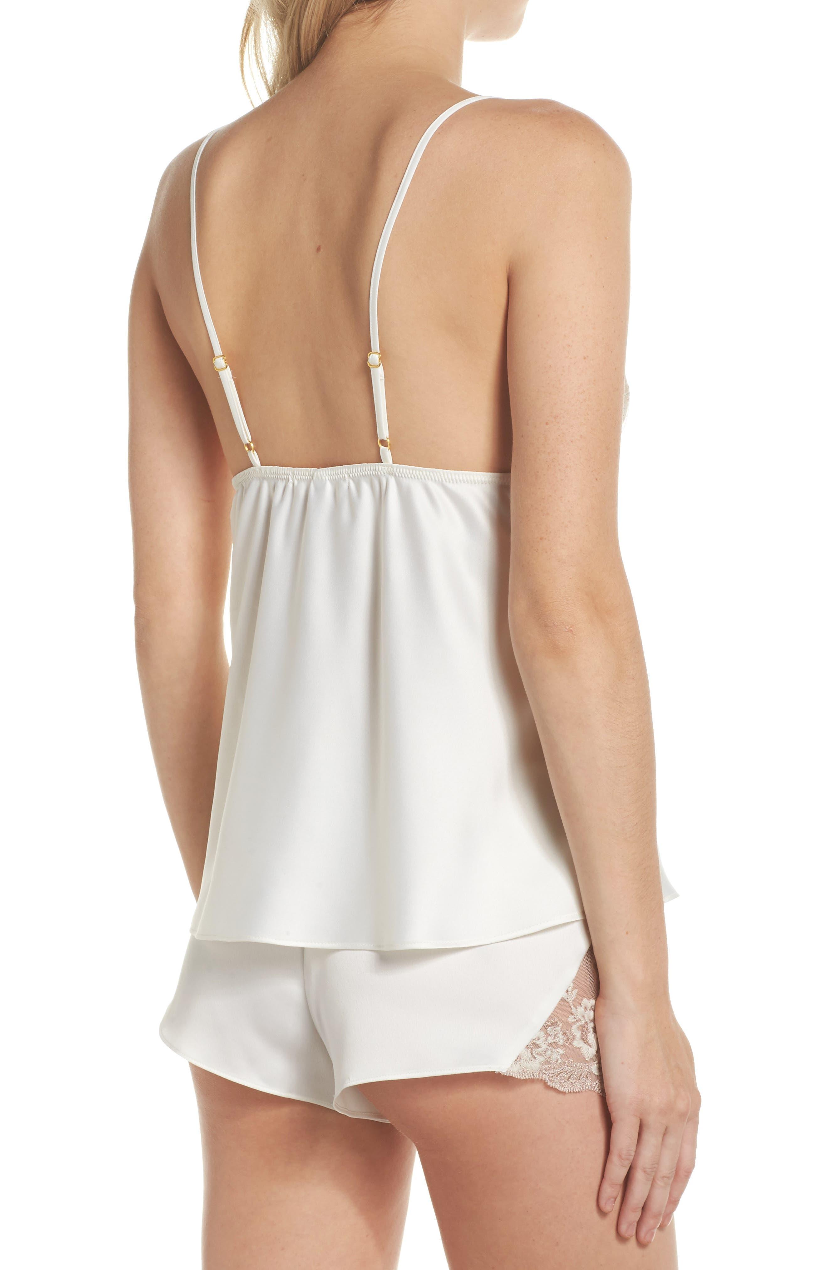 Rosa Charm Short Pajamas,                             Alternate thumbnail 2, color,                             Ivory