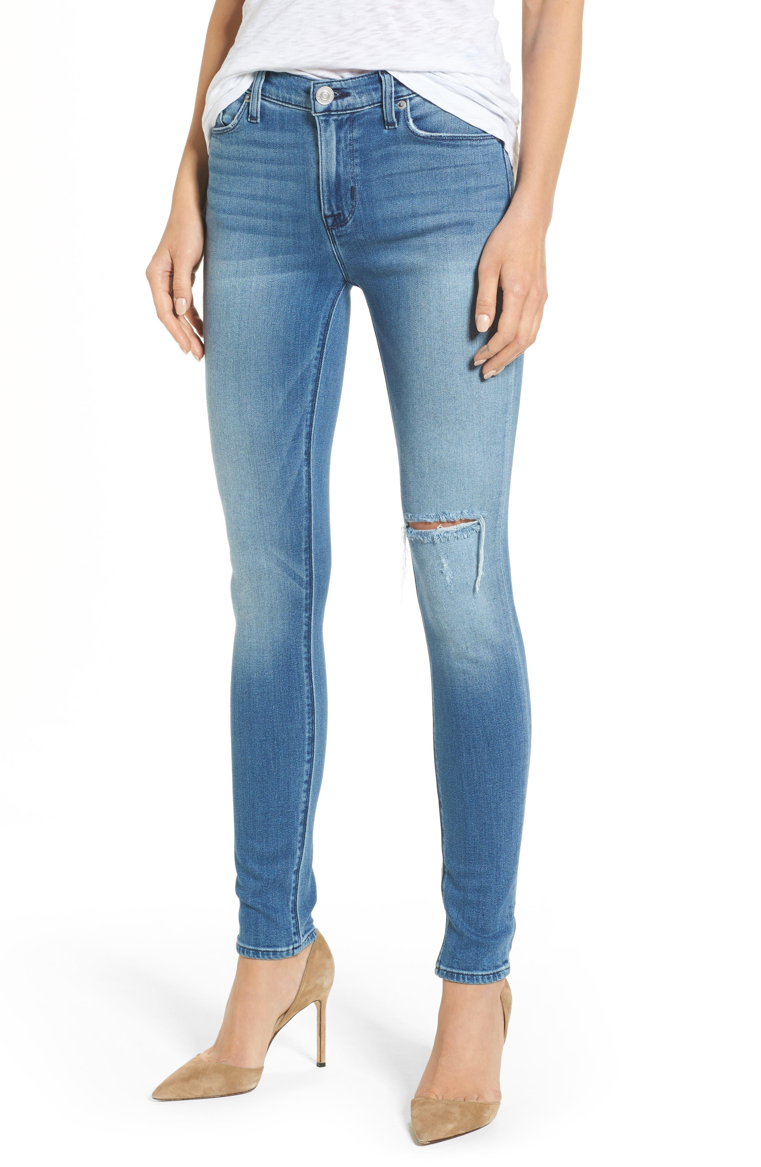 Alternate Image 1 Selected - Hudson Nico Mid Rise Super Skinny Jeans