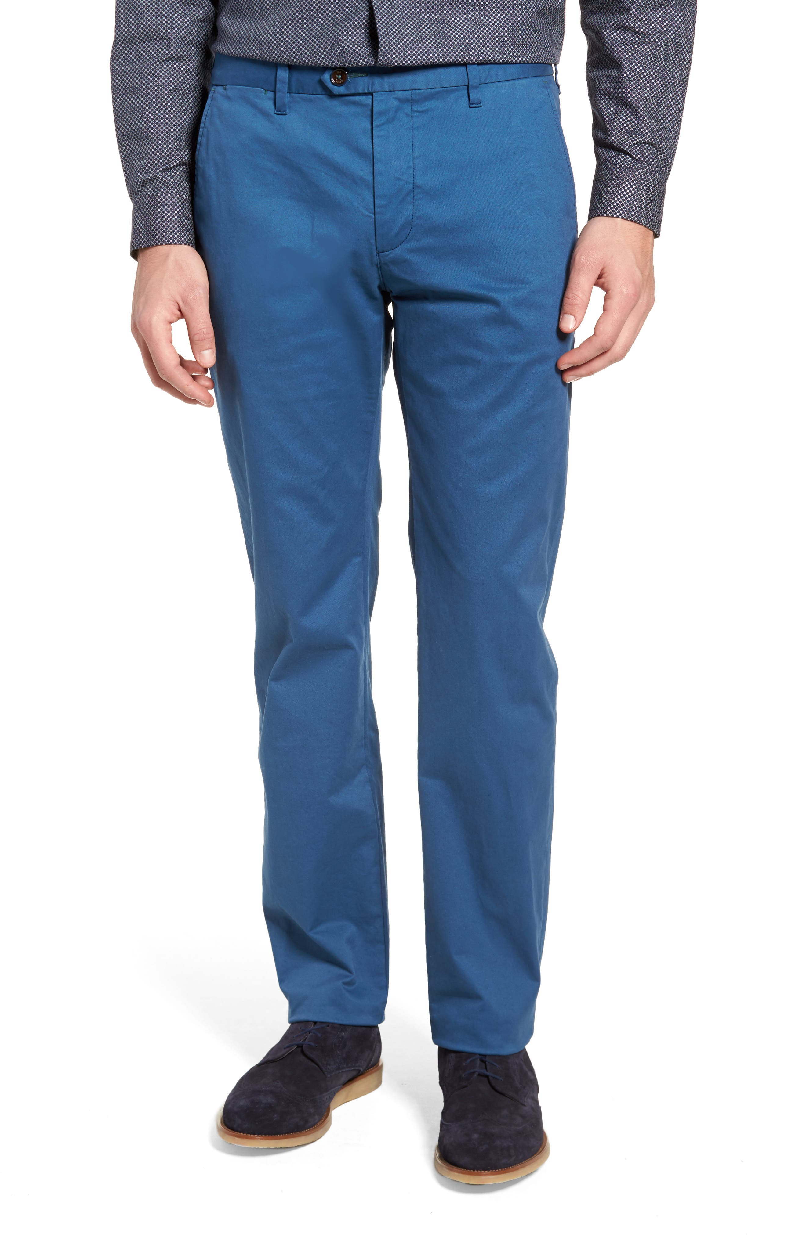 Procor Slim Fit Chino Pants,                         Main,                         color, Navy