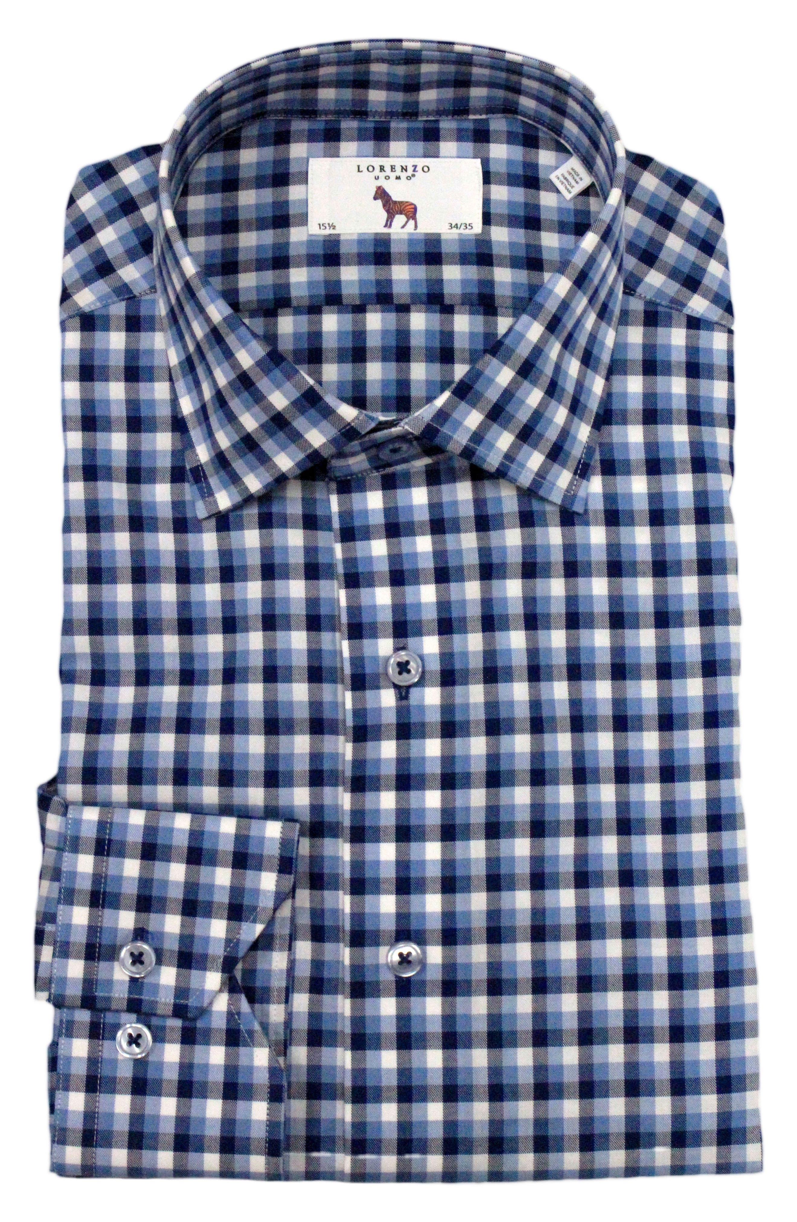 Alternate Image 1 Selected - Lorenzo Uomo Trim Fit Check Dress Shirt