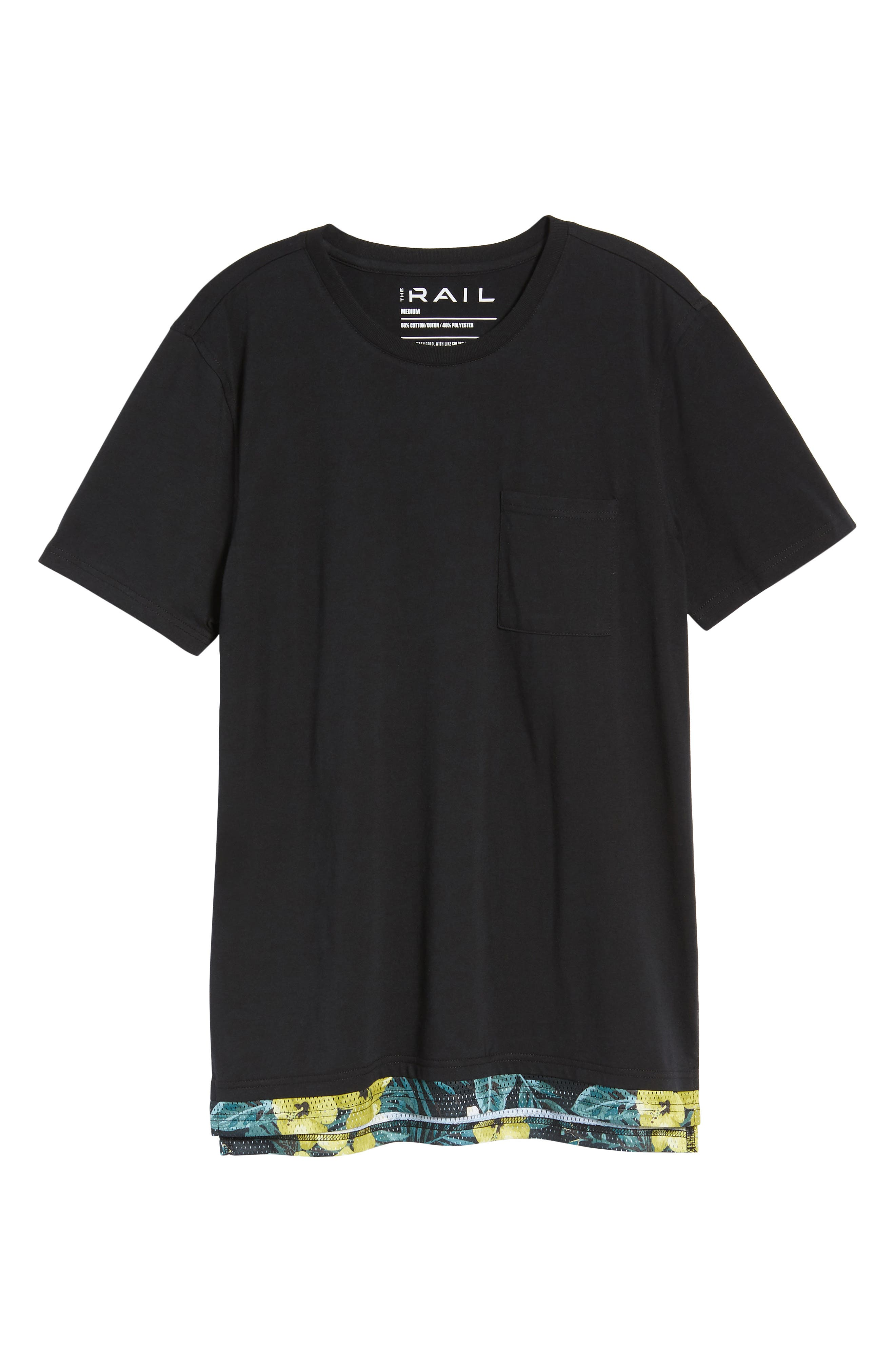 Alternate Image 6  - The Rail Contrast Mesh Layered T-Shirt
