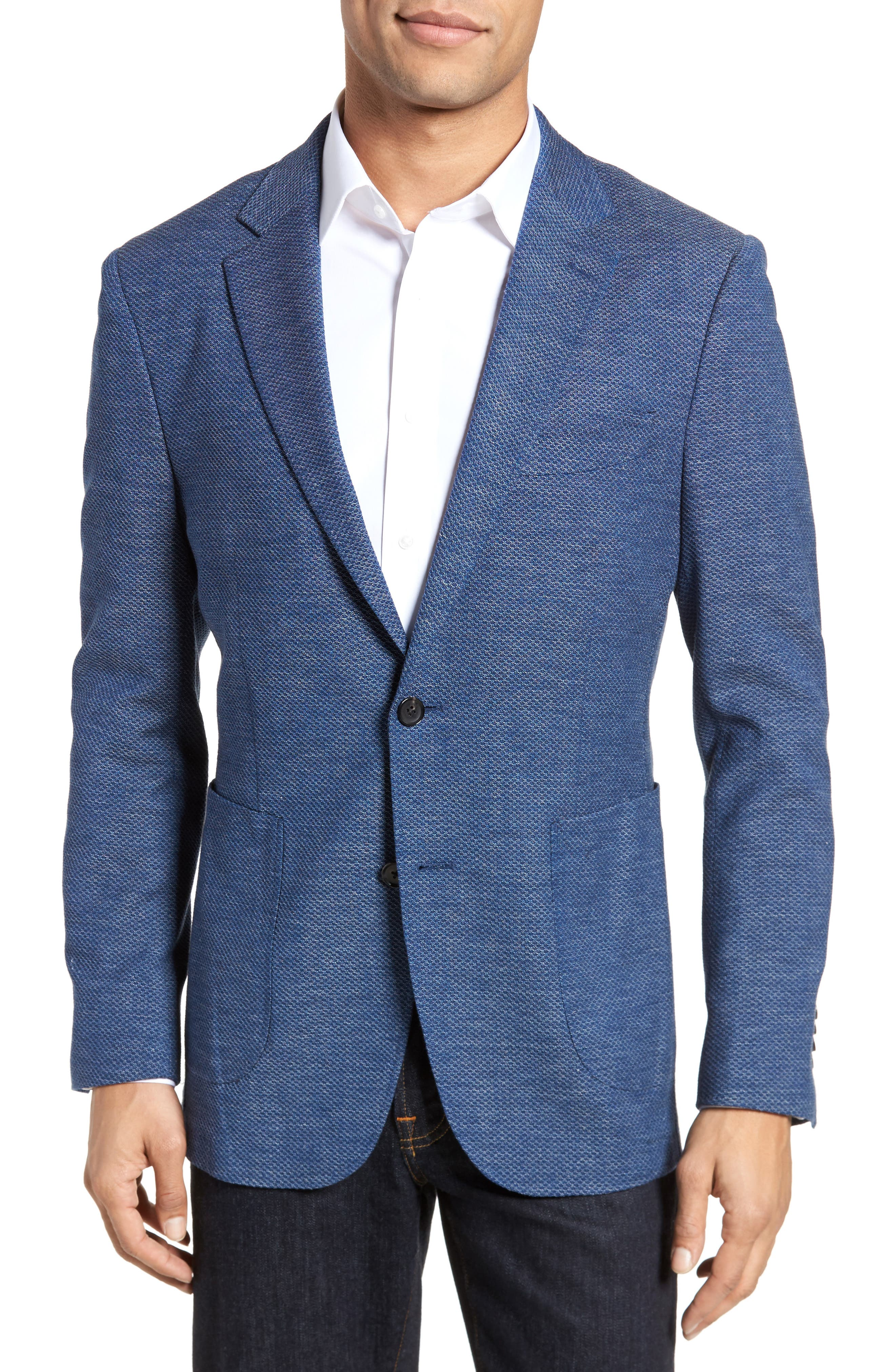 Fife Street Wool Blend Blazer,                         Main,                         color, Marine