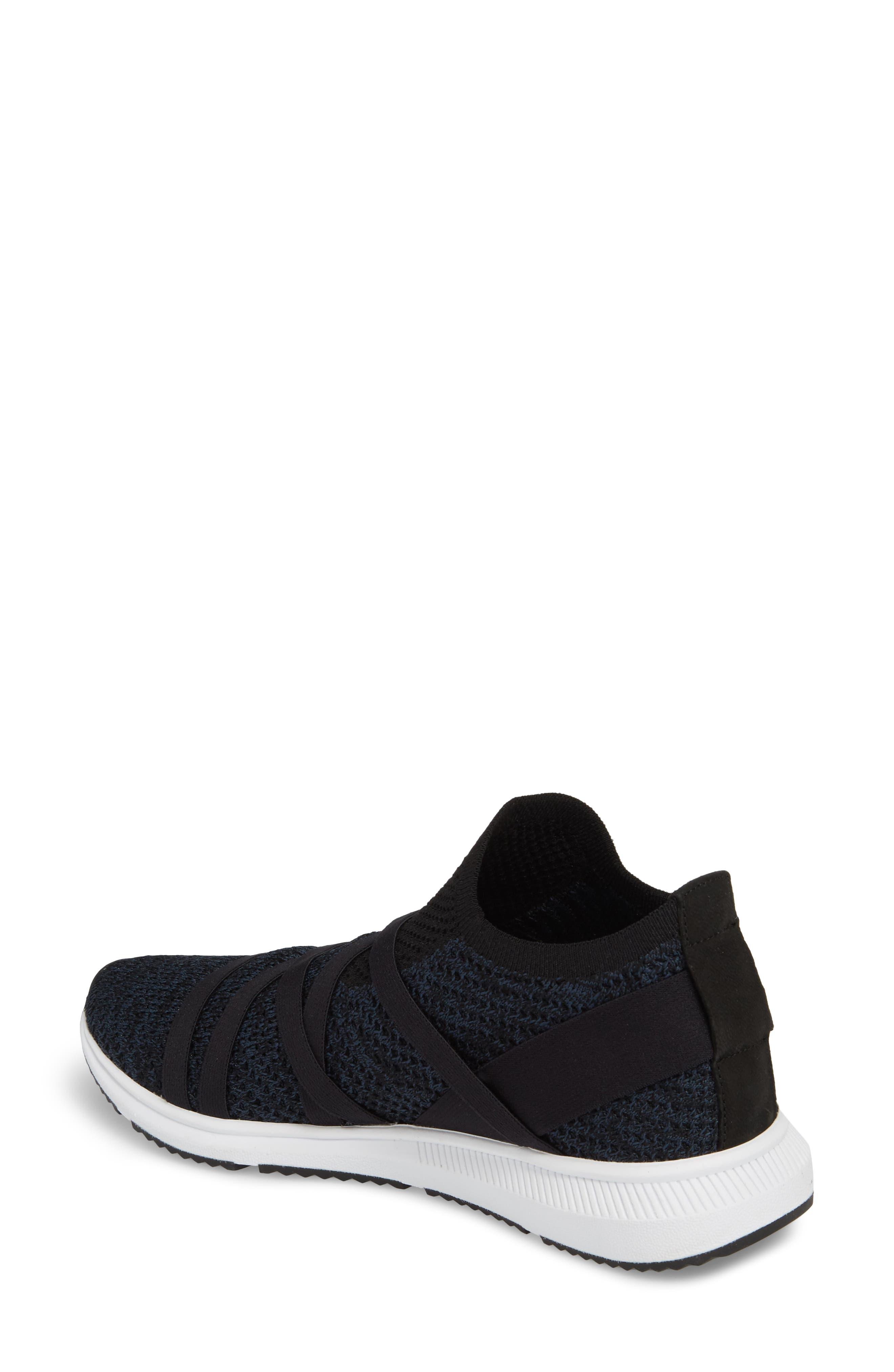Xanady Woven Slip-On Sneaker,                             Alternate thumbnail 2, color,                             Black/ Marine Stretch