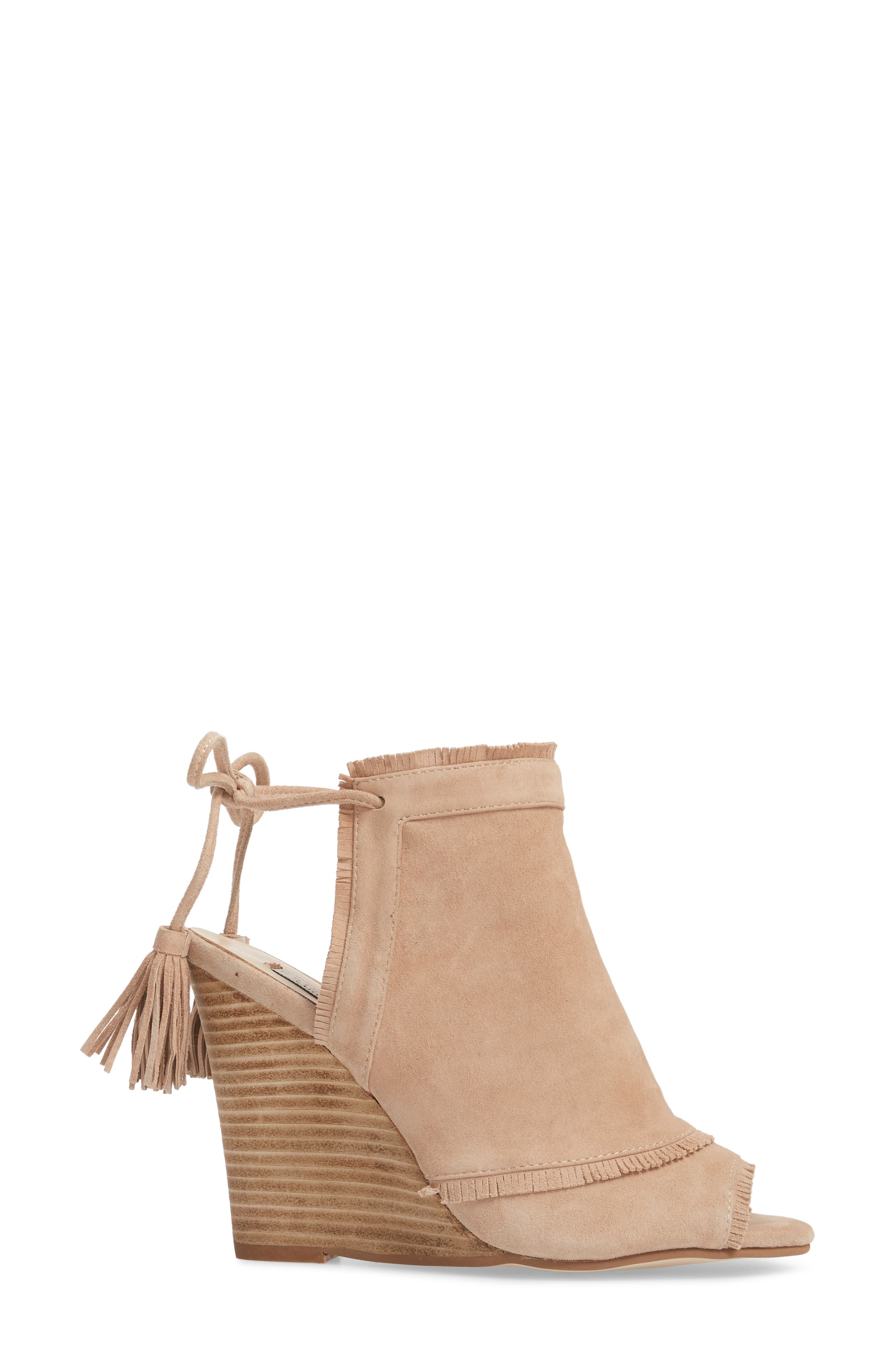 Leilani Wedge,                             Alternate thumbnail 3, color,                             Tigers Eye Suede