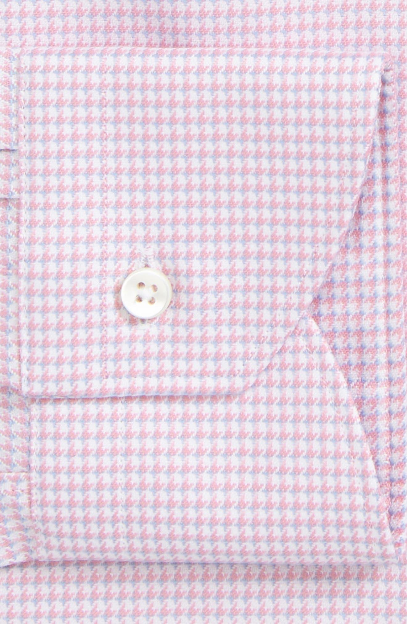 Regular Fit Houndstooth Dress Shirt,                             Alternate thumbnail 2, color,                             Pink