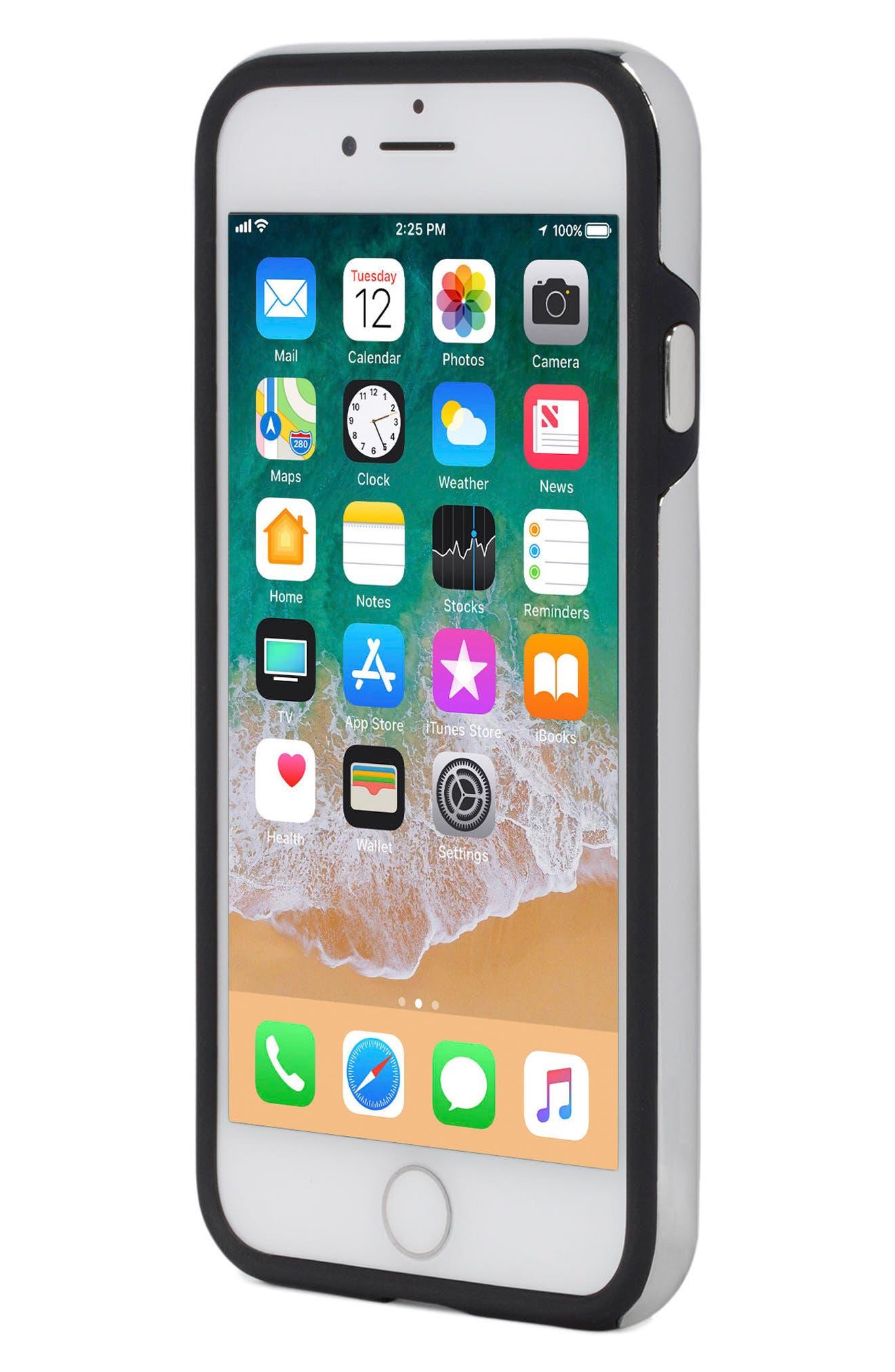 Inlay Gem Leather iPhone 7/8 Plus Case,                             Alternate thumbnail 5, color,                             Multi Gems/ Studs/ Black
