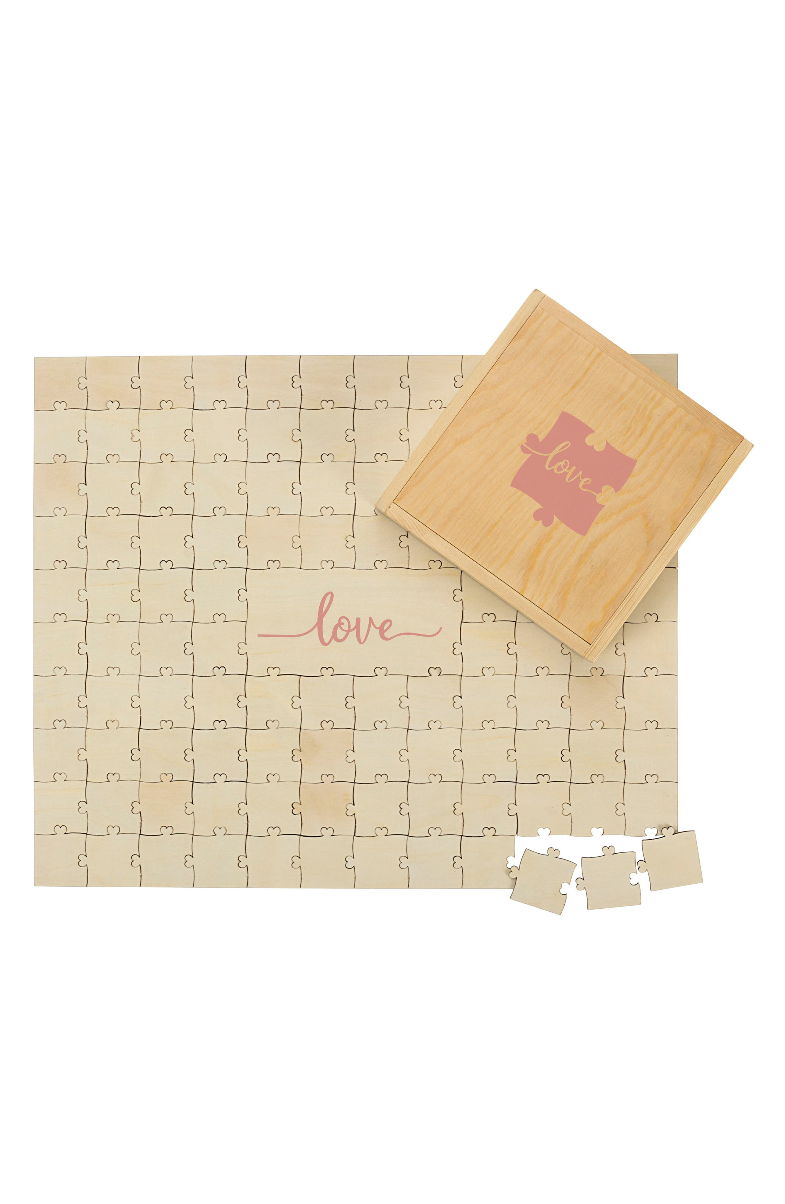 Love Guest Book Puzzle,                             Alternate thumbnail 2, color,                             Brown