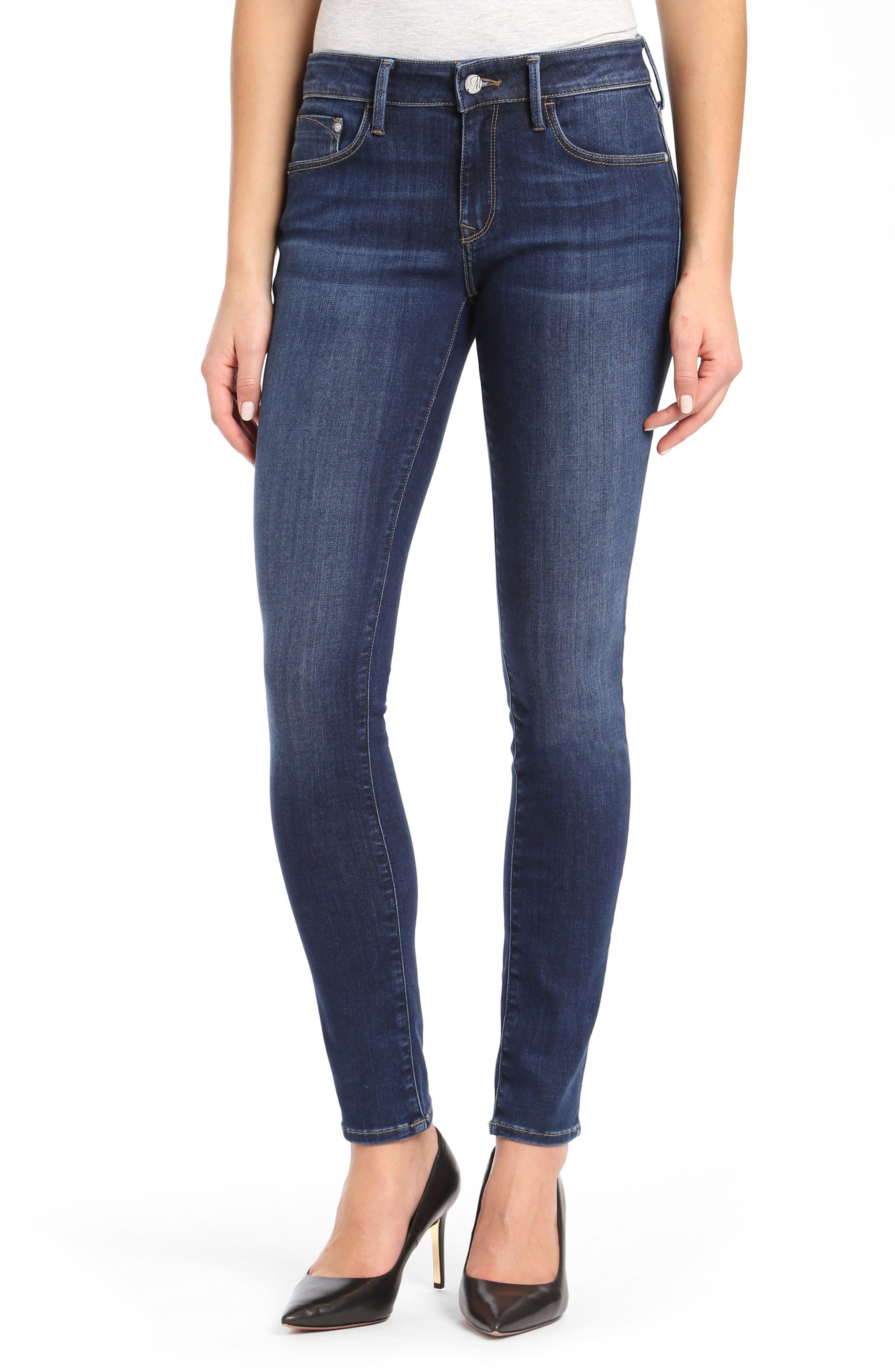 Alexa Supersoft Skinny Jeans,                         Main,                         color, Dark Super Soft