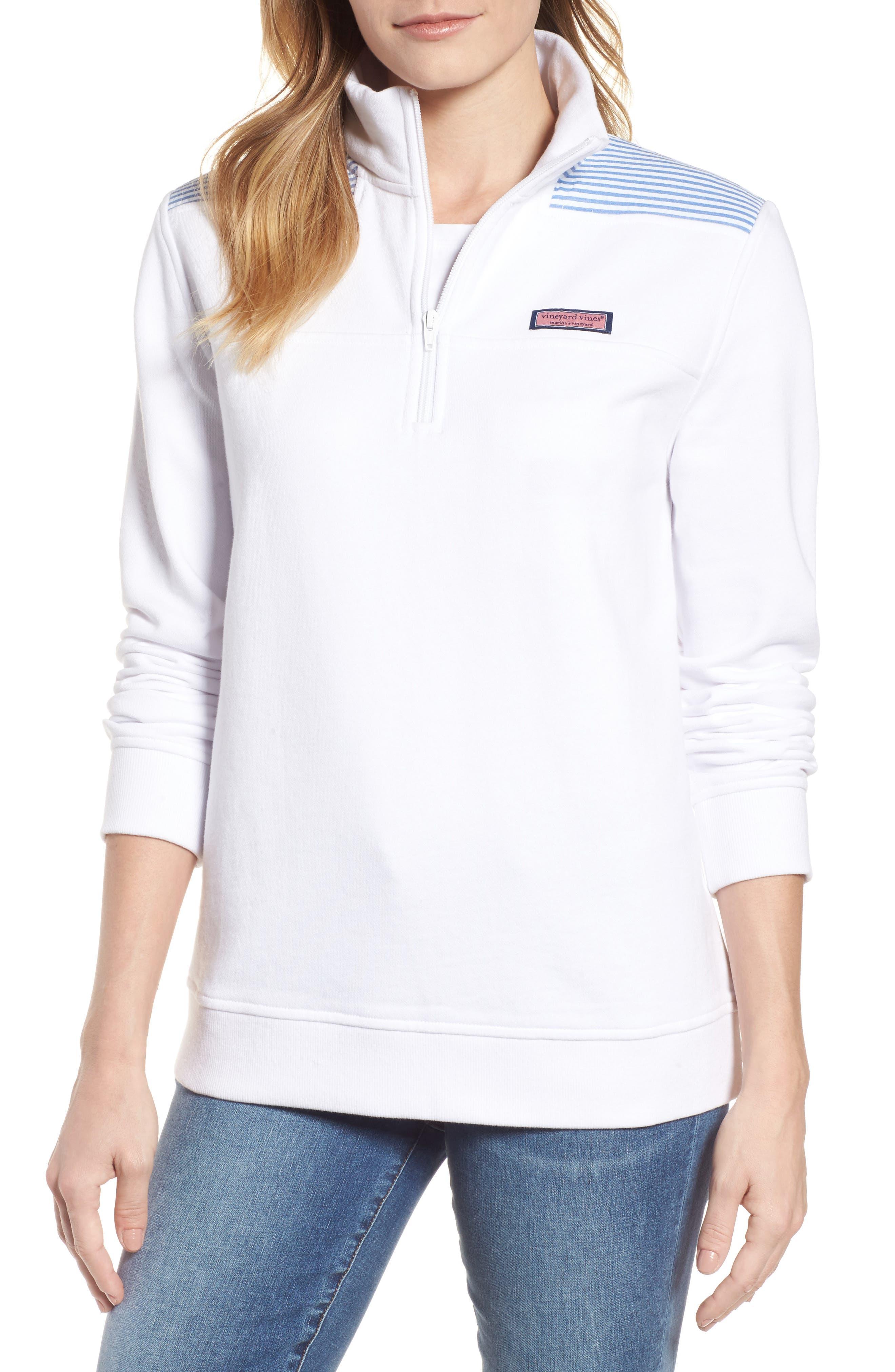 Shep Quarter Zip Pullover,                         Main,                         color, White Cap