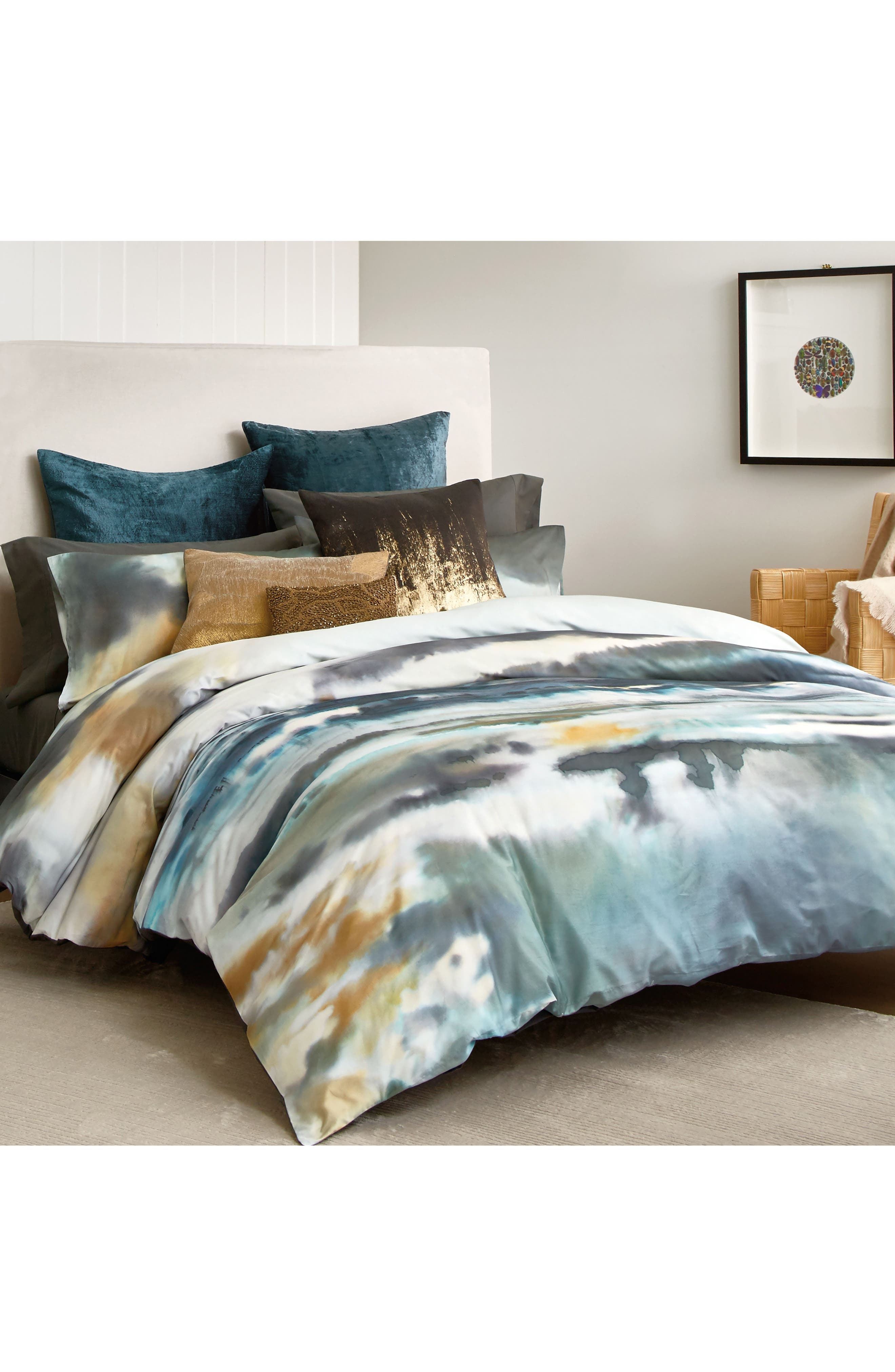 After The Storm Duvet Cover,                         Main,                         color, Surf