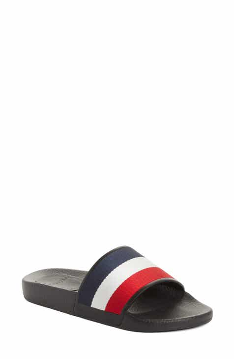 60cfb7a6d241 Moncler Jeanne Slide Sandal (Women).  235.00. Product Image. WHITE  BLACK  LEATHER
