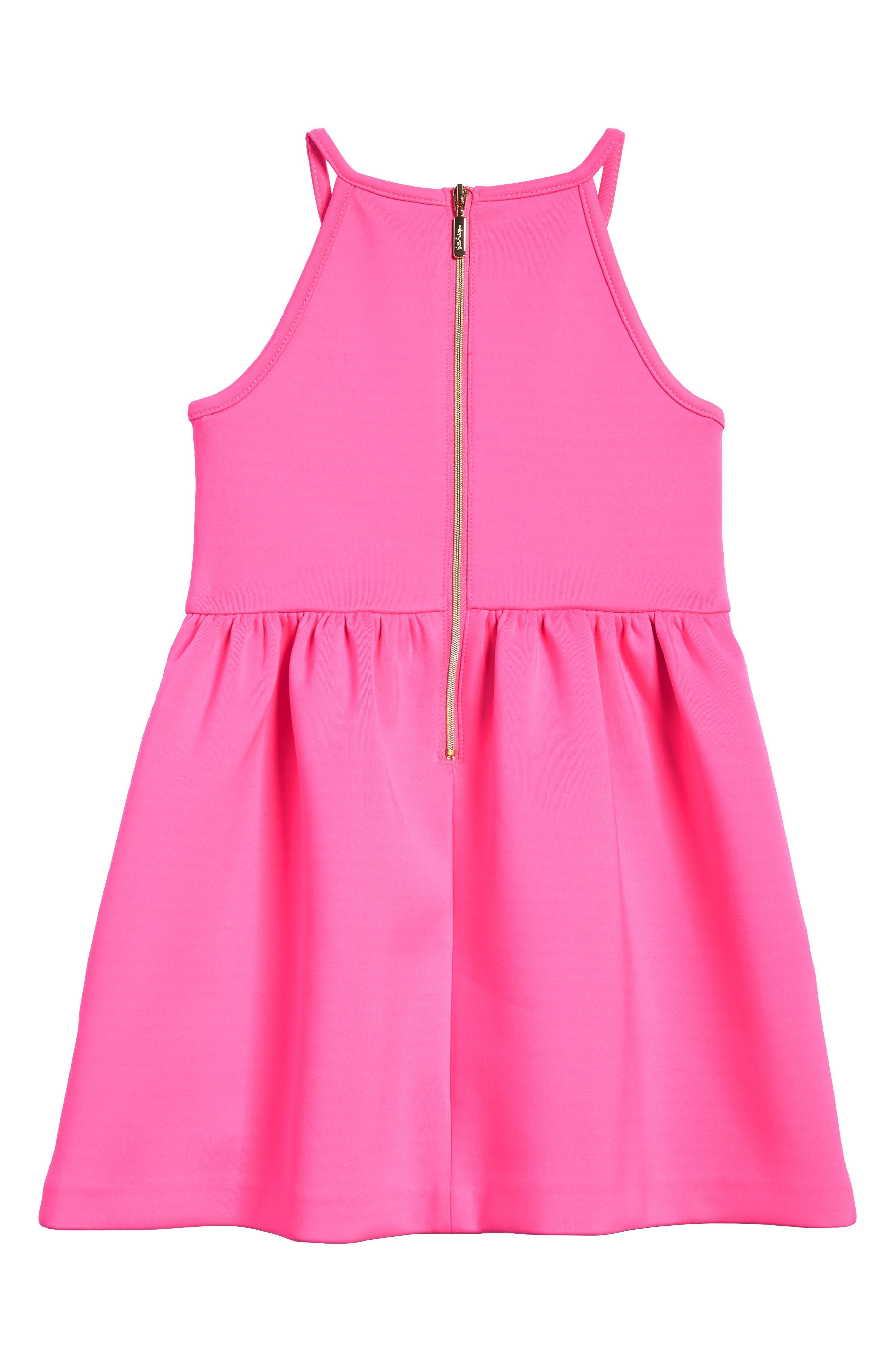 Elize Fit & Flare Dress,                             Alternate thumbnail 2, color,                             Raz Berry