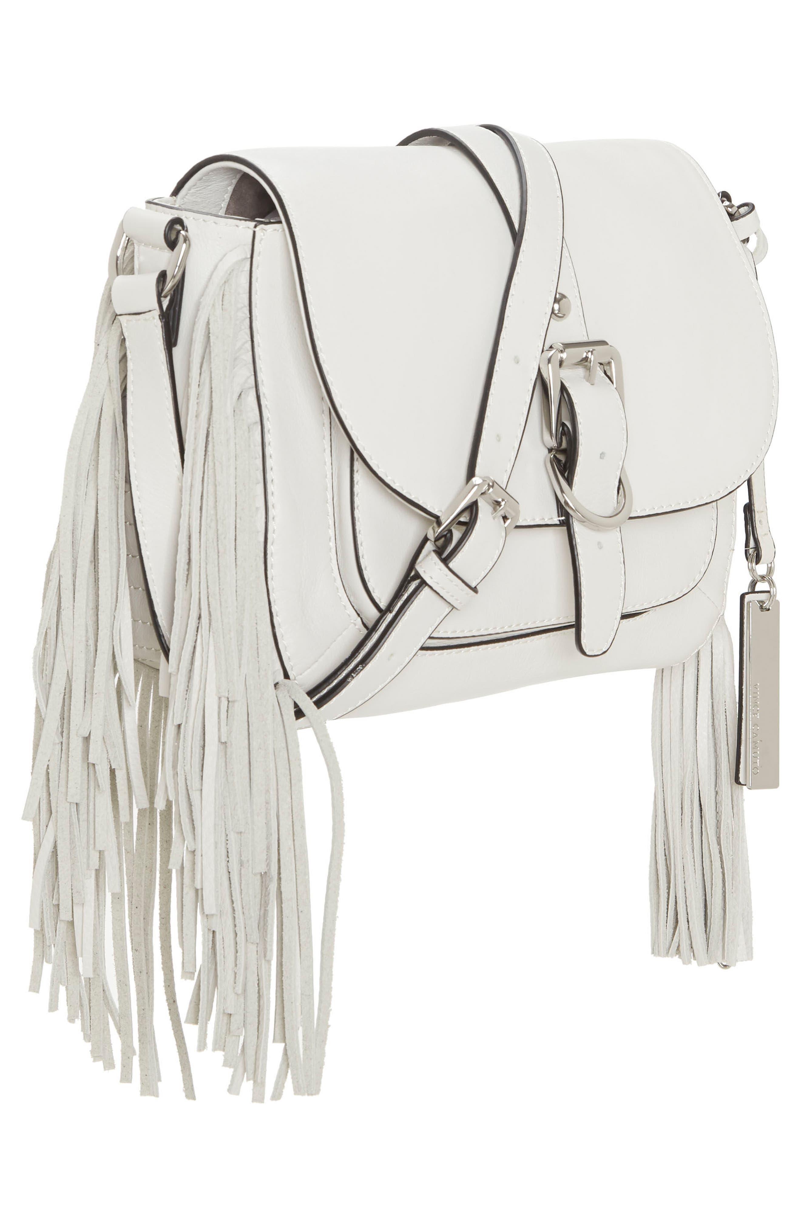 Hil Leather Crossbody Bag,                             Alternate thumbnail 4, color,                             Vaporous Grey