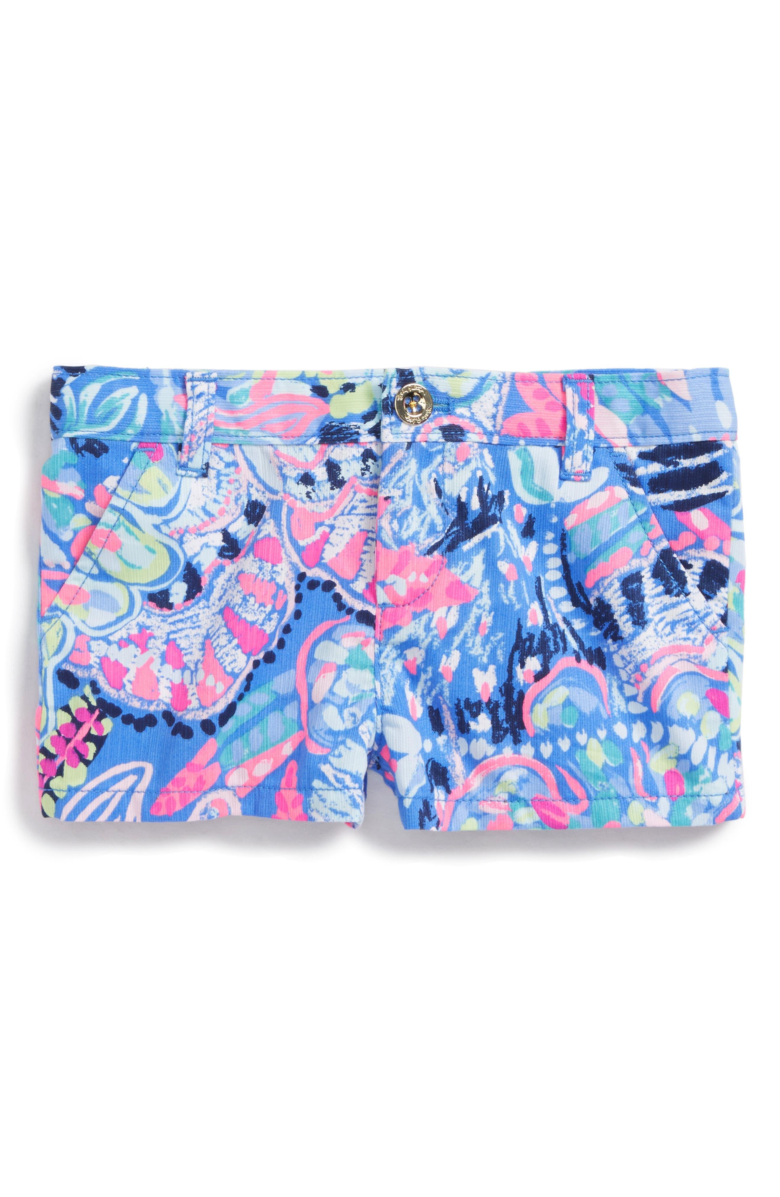 Mini Callahan Shorts,                             Main thumbnail 1, color,                             Multi Fantasy Garden