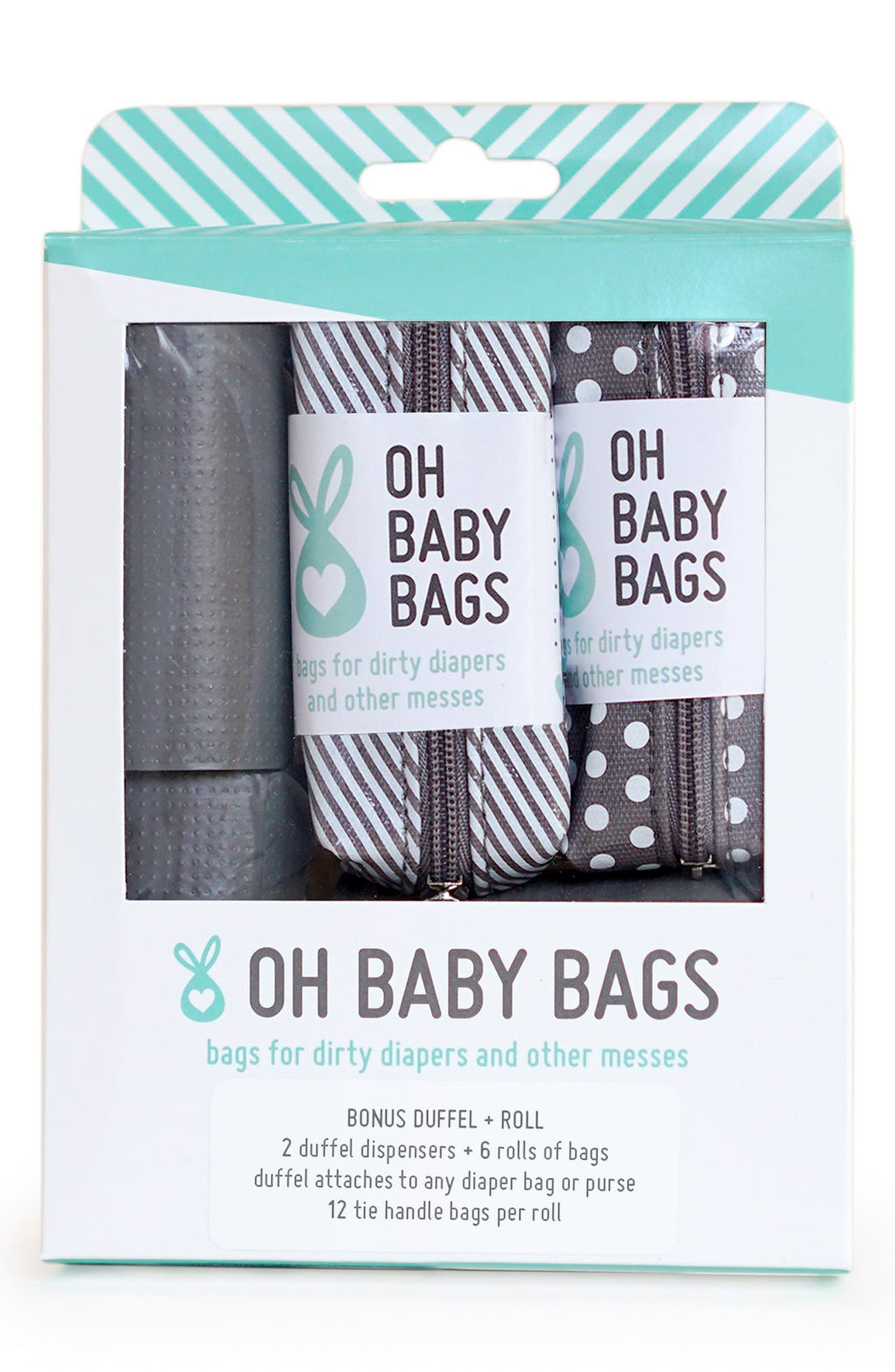 Oh Baby Bags Portable Clip-On Dispenser & Bag Set