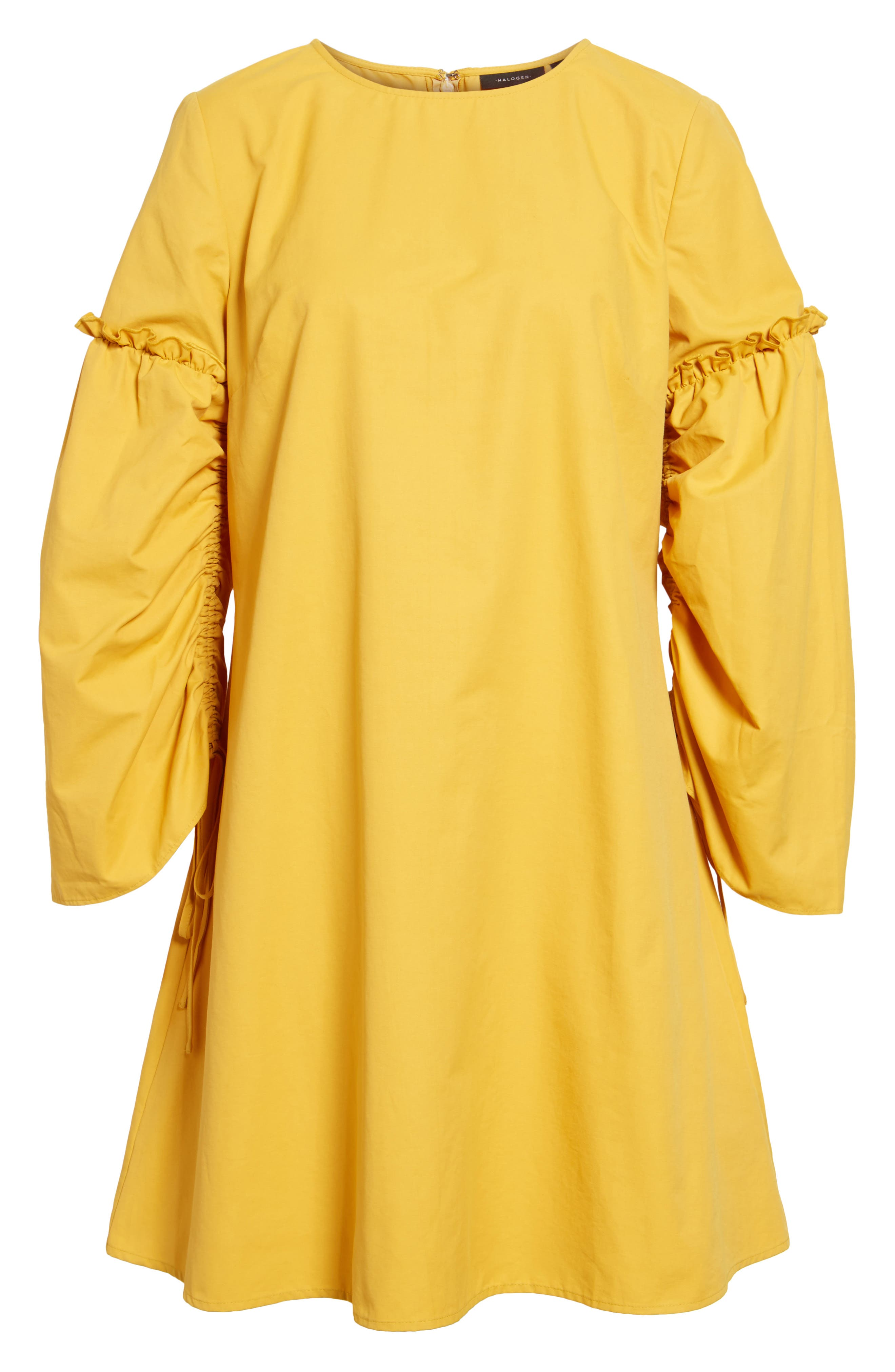 Parachute Sleeve Shift Dress,                             Alternate thumbnail 6, color,                             Yellow Mineral