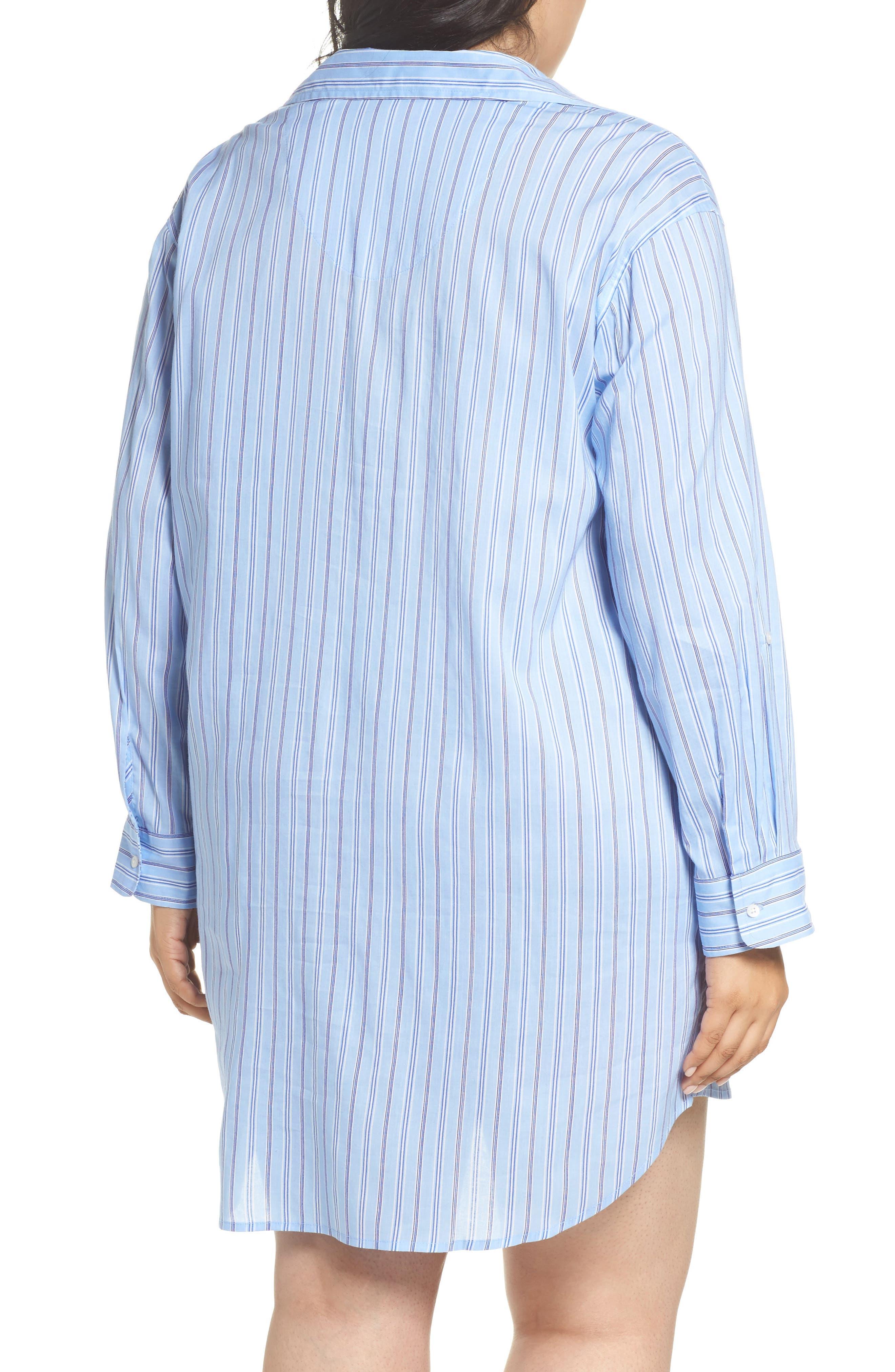 Night Shirt,                             Alternate thumbnail 2, color,                             Blue Stripe