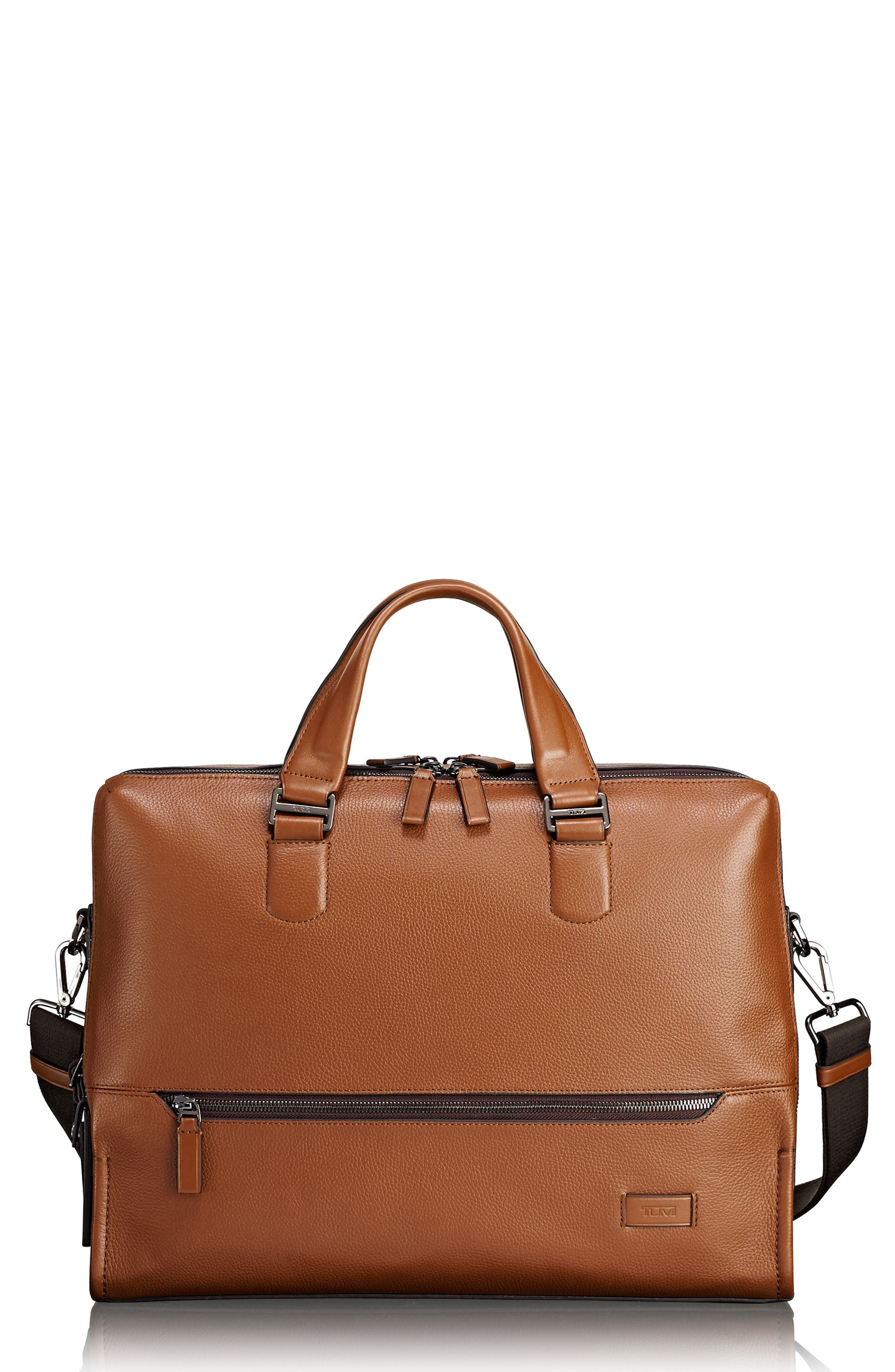Harrison - Horton Briefcase,                             Main thumbnail 1, color,                             Umber Pebbled