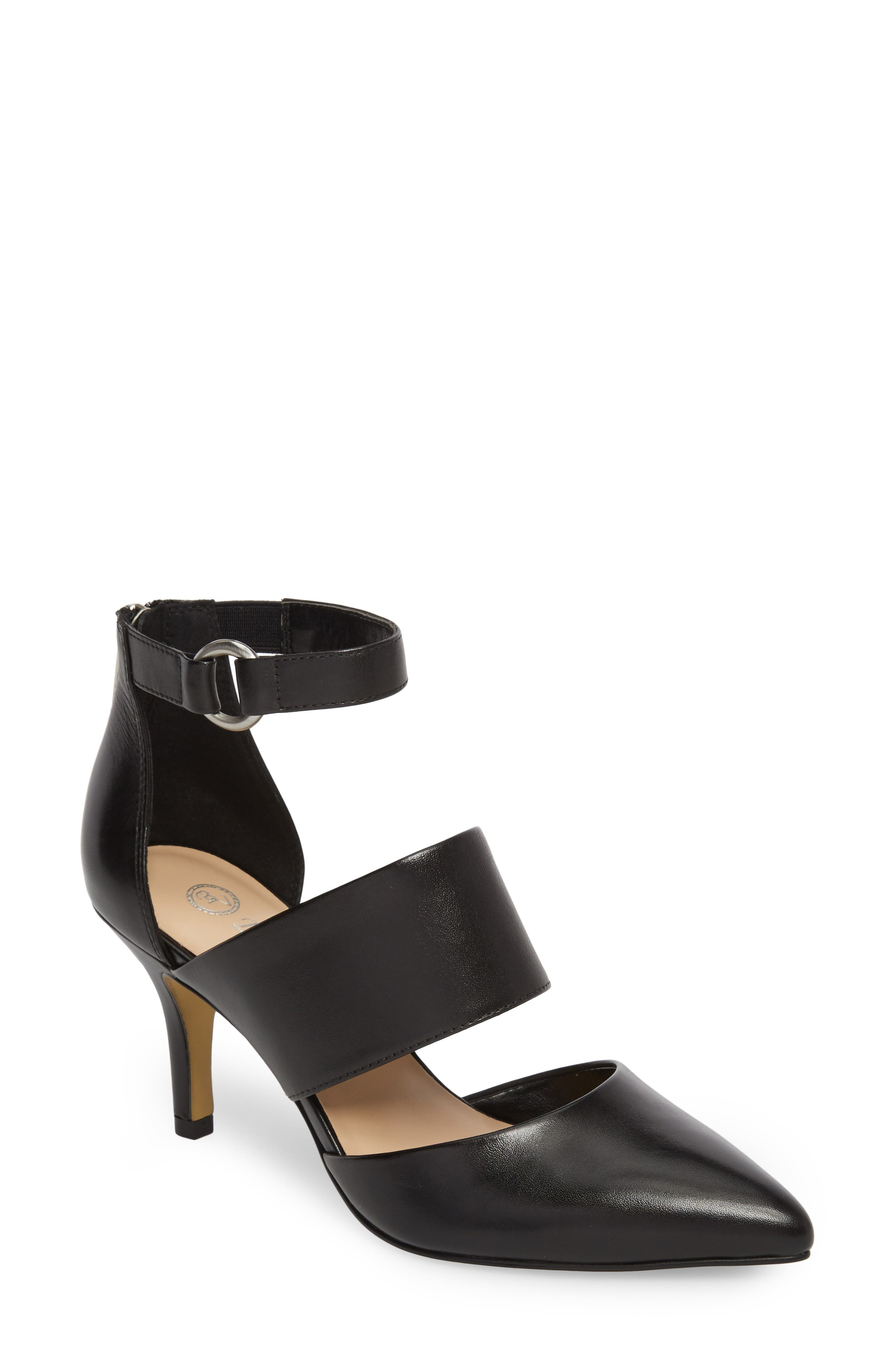 Diana Pump,                         Main,                         color, Black Leather