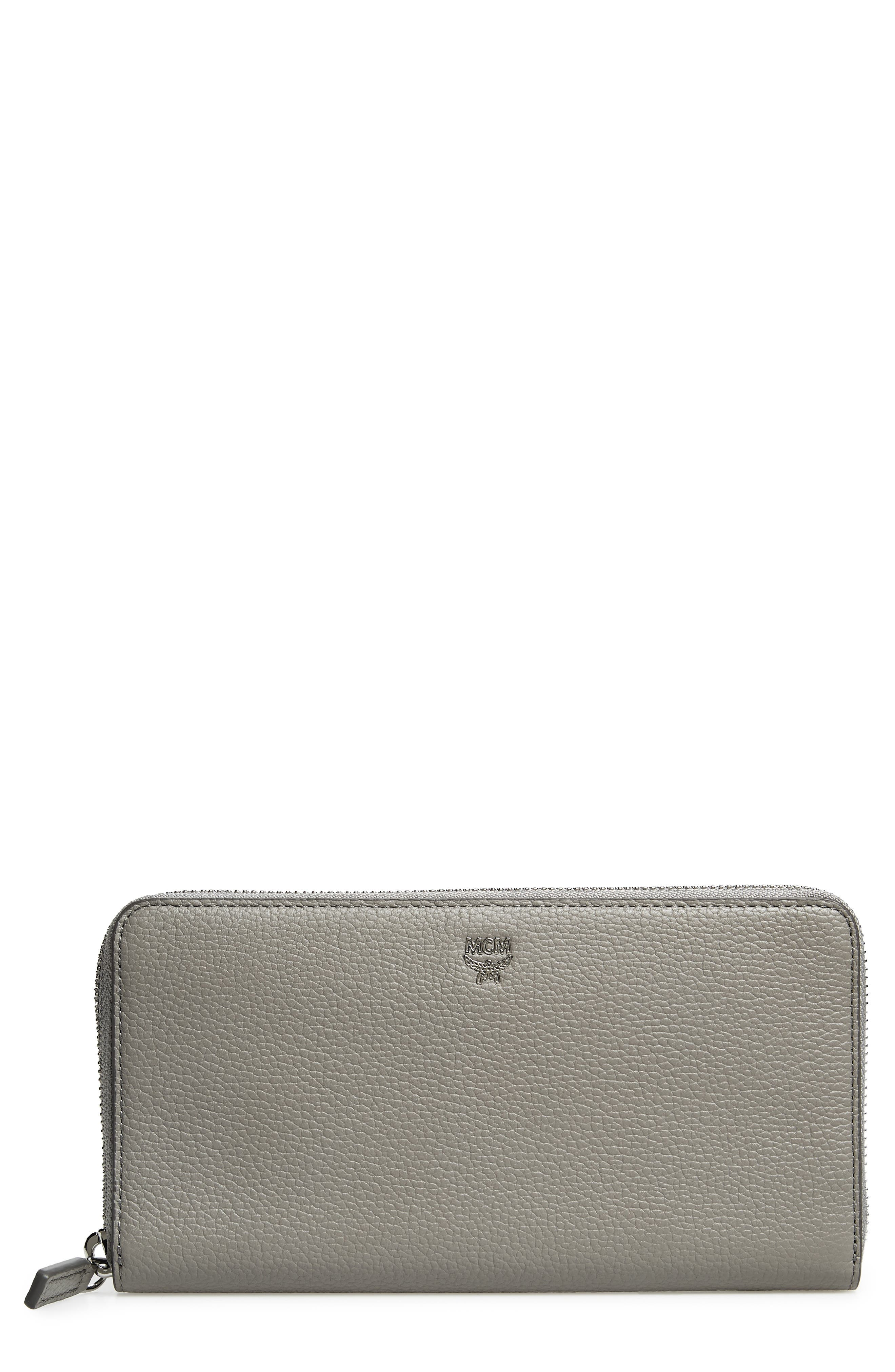 Alternate Image 1 Selected - MCM Large Milla Zip-Around Leather Wallet
