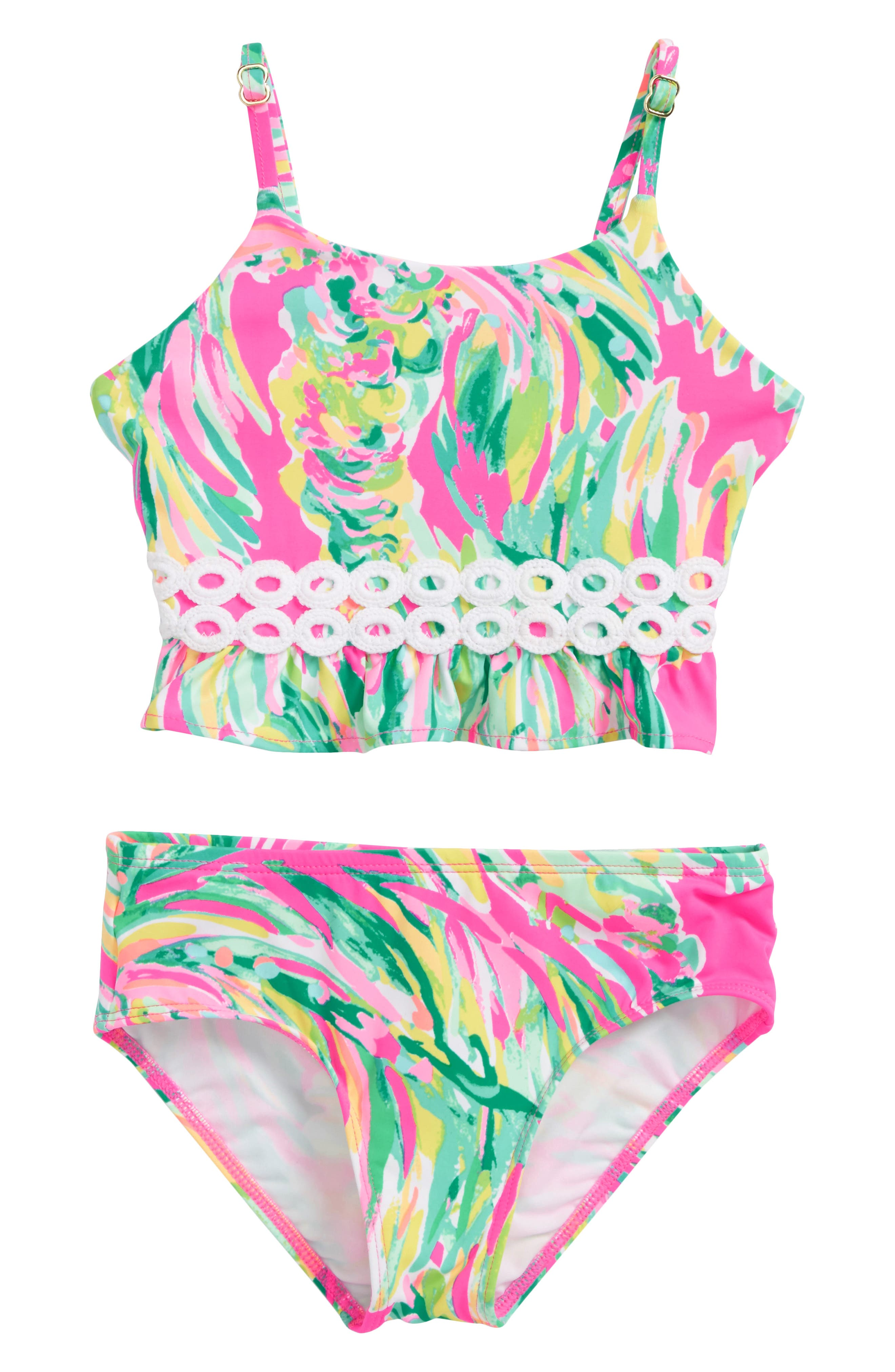 Lilly Pulitzer Katrina Two-Piece Swimsuit,                             Main thumbnail 1, color,                             Multi Shady Lady