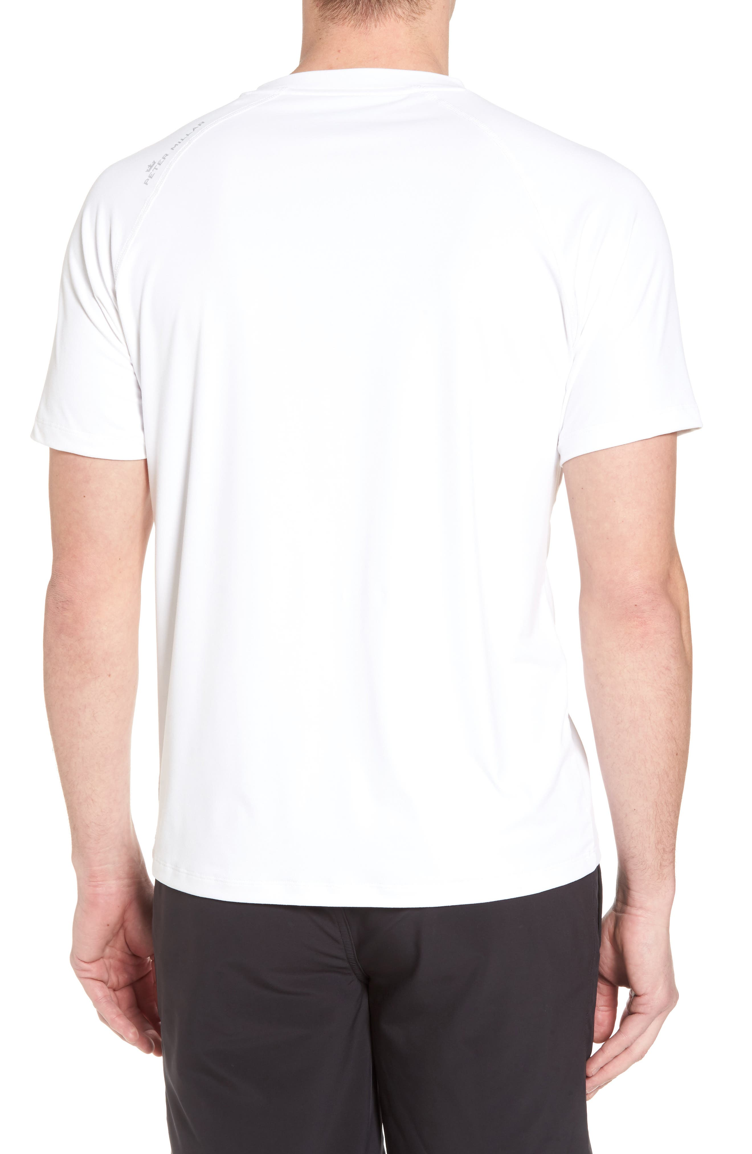 Rio Regular Fit Technical T-Shirt,                             Alternate thumbnail 2, color,                             White