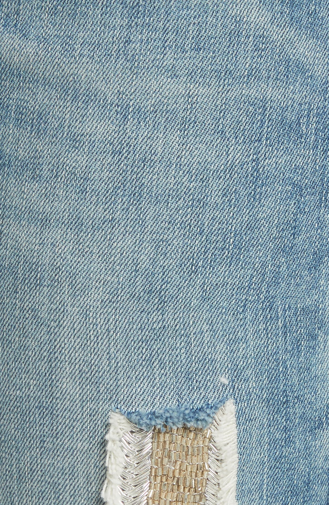 Embellished Boyfriend Jeans,                             Alternate thumbnail 5, color,                             Blue Berry