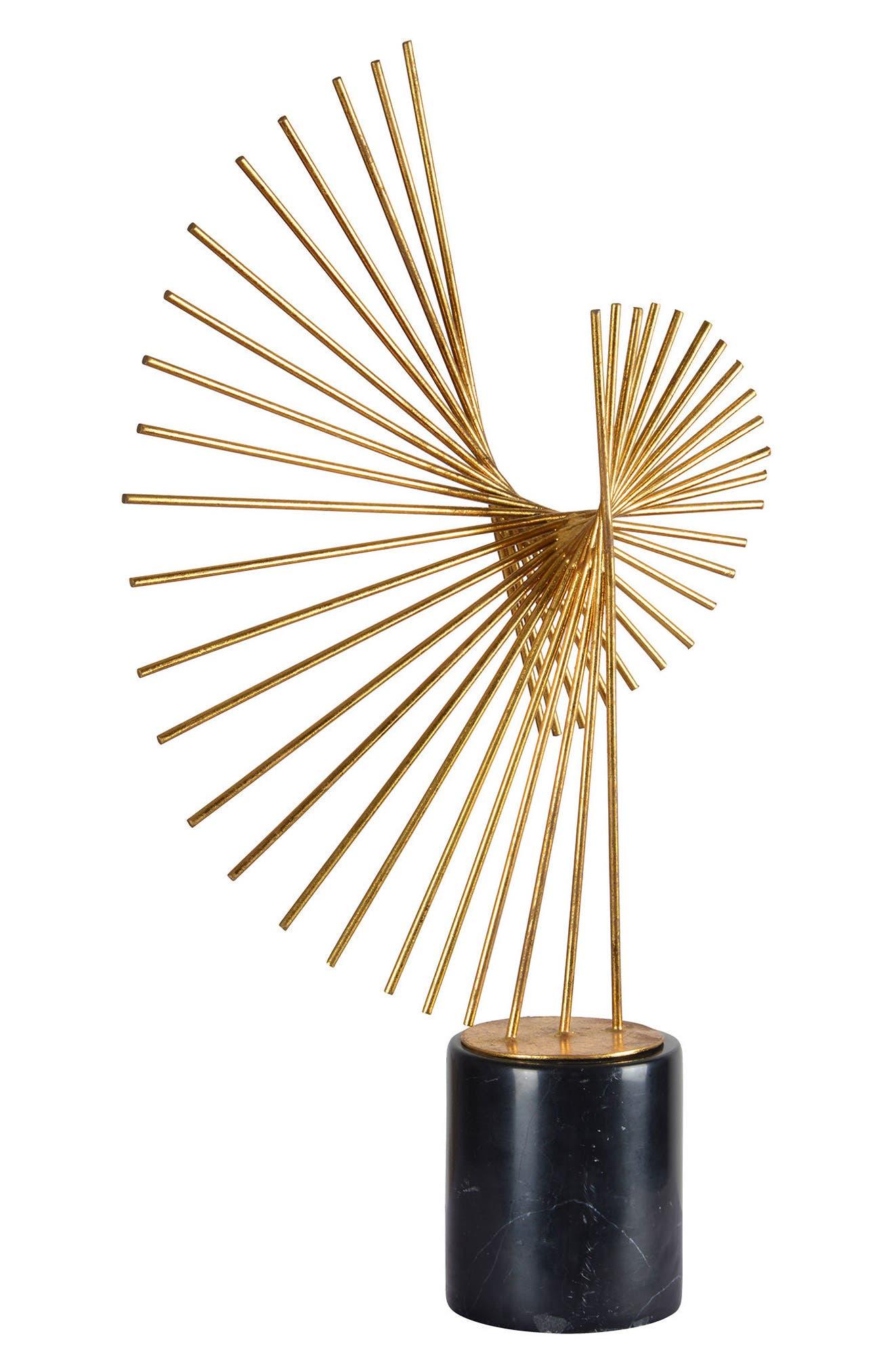 Airmotor Statue,                             Main thumbnail 1, color,                             Gold Leaf