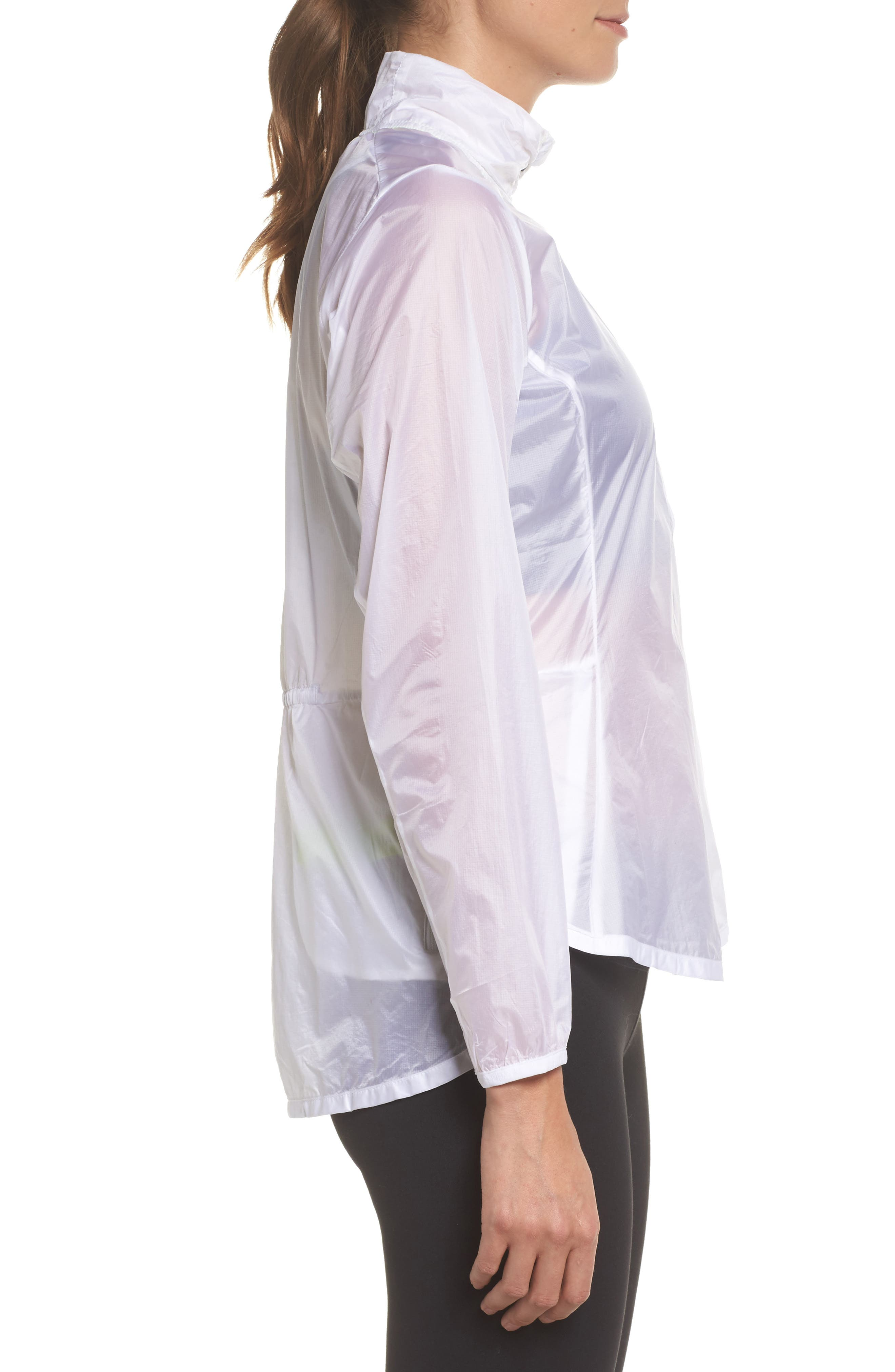 Water Resistant Ripstop Jacket,                             Alternate thumbnail 3, color,                             White
