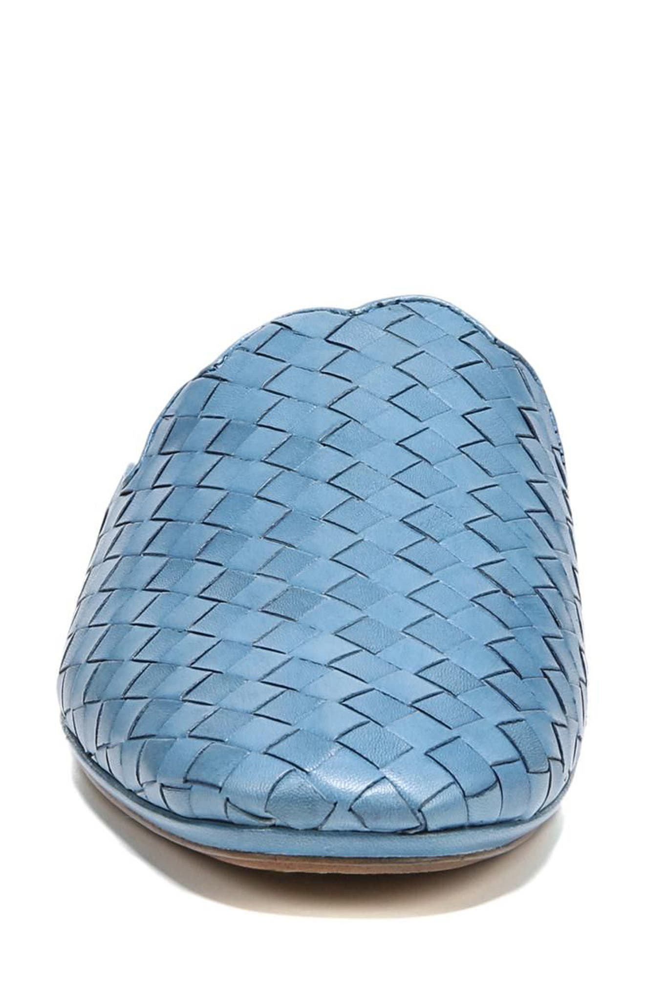 Katy Mule,                             Alternate thumbnail 4, color,                             Moroccan Blue Woven Leather