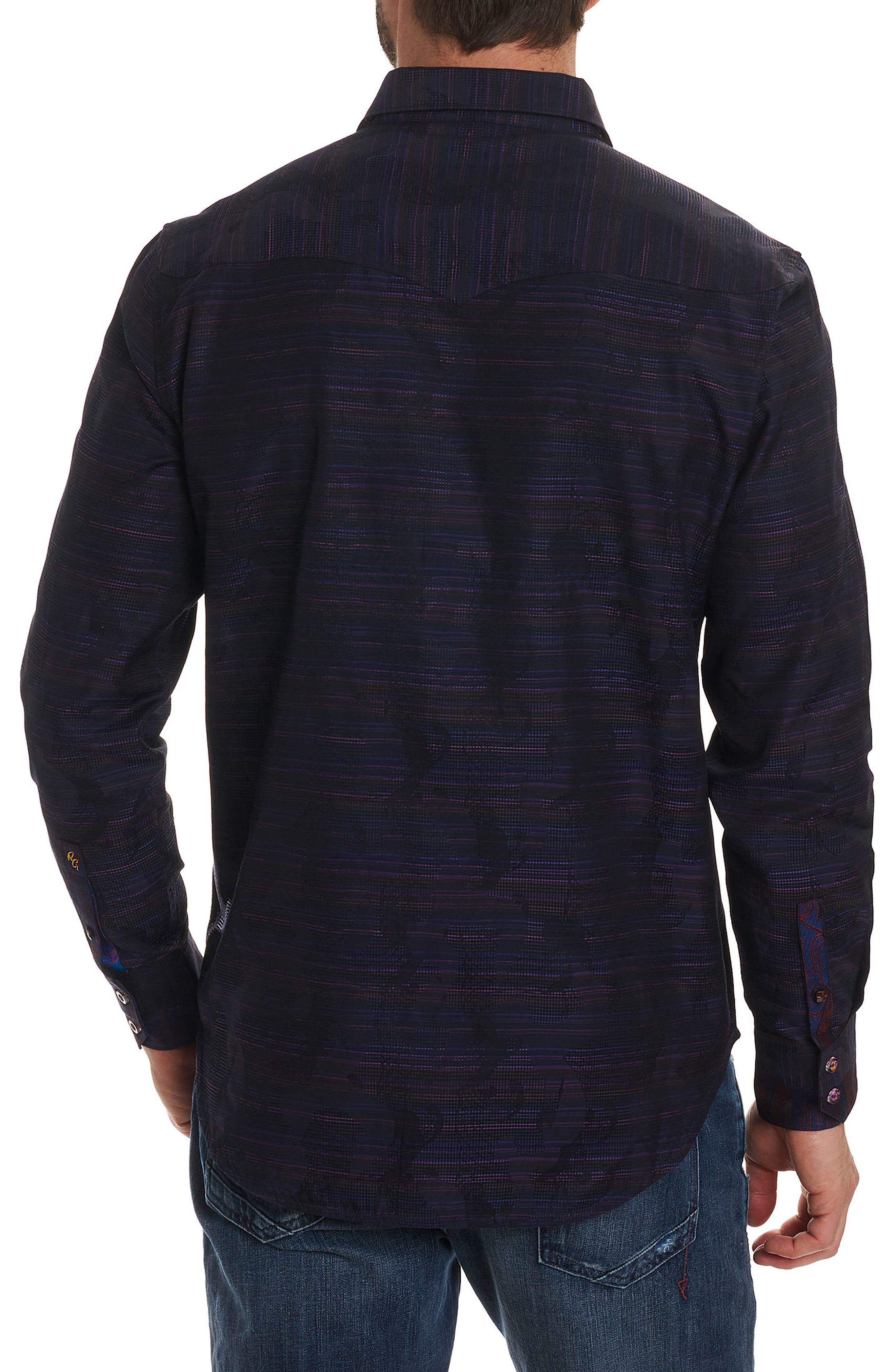 El Rey Classic Fit Embroidered Sport Shirt,                             Alternate thumbnail 2, color,                             Purple