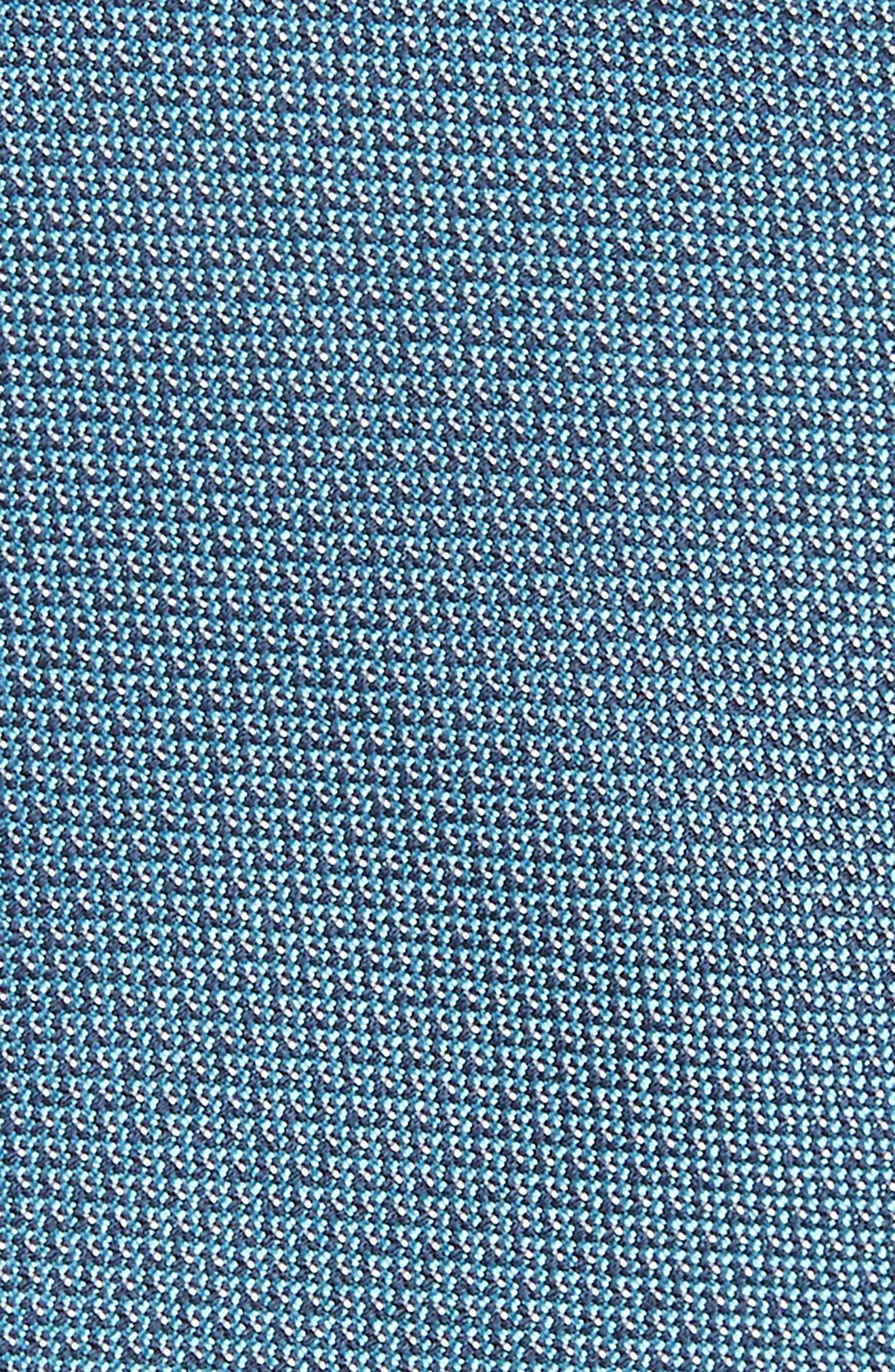 Eternity Unsolid Solid Silk Skinny Tie,                             Alternate thumbnail 2, color,                             Aqua/ Teal