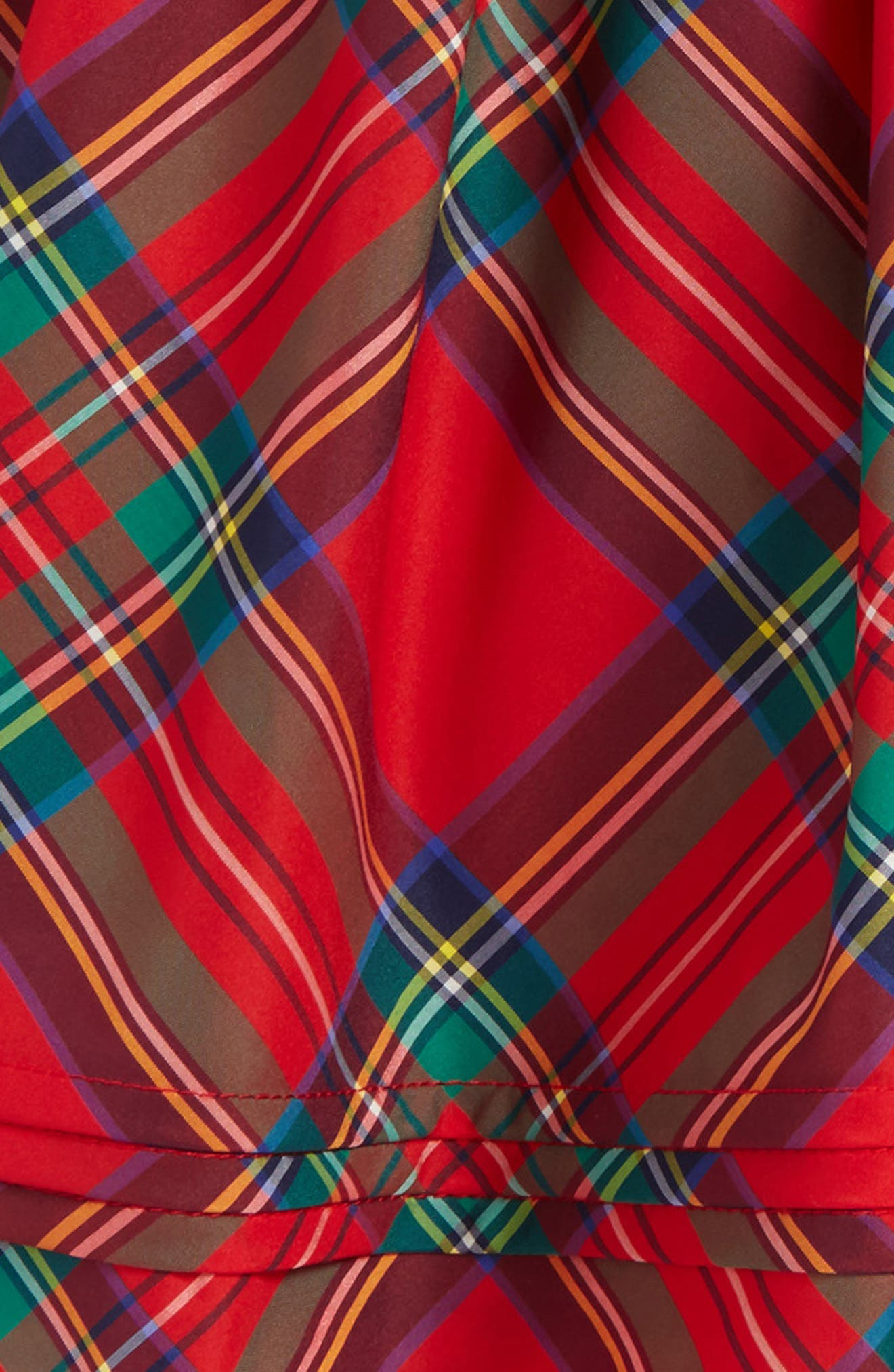 Jolly Plaid Party Skirt,                             Alternate thumbnail 2, color,                             Lighthouse Red