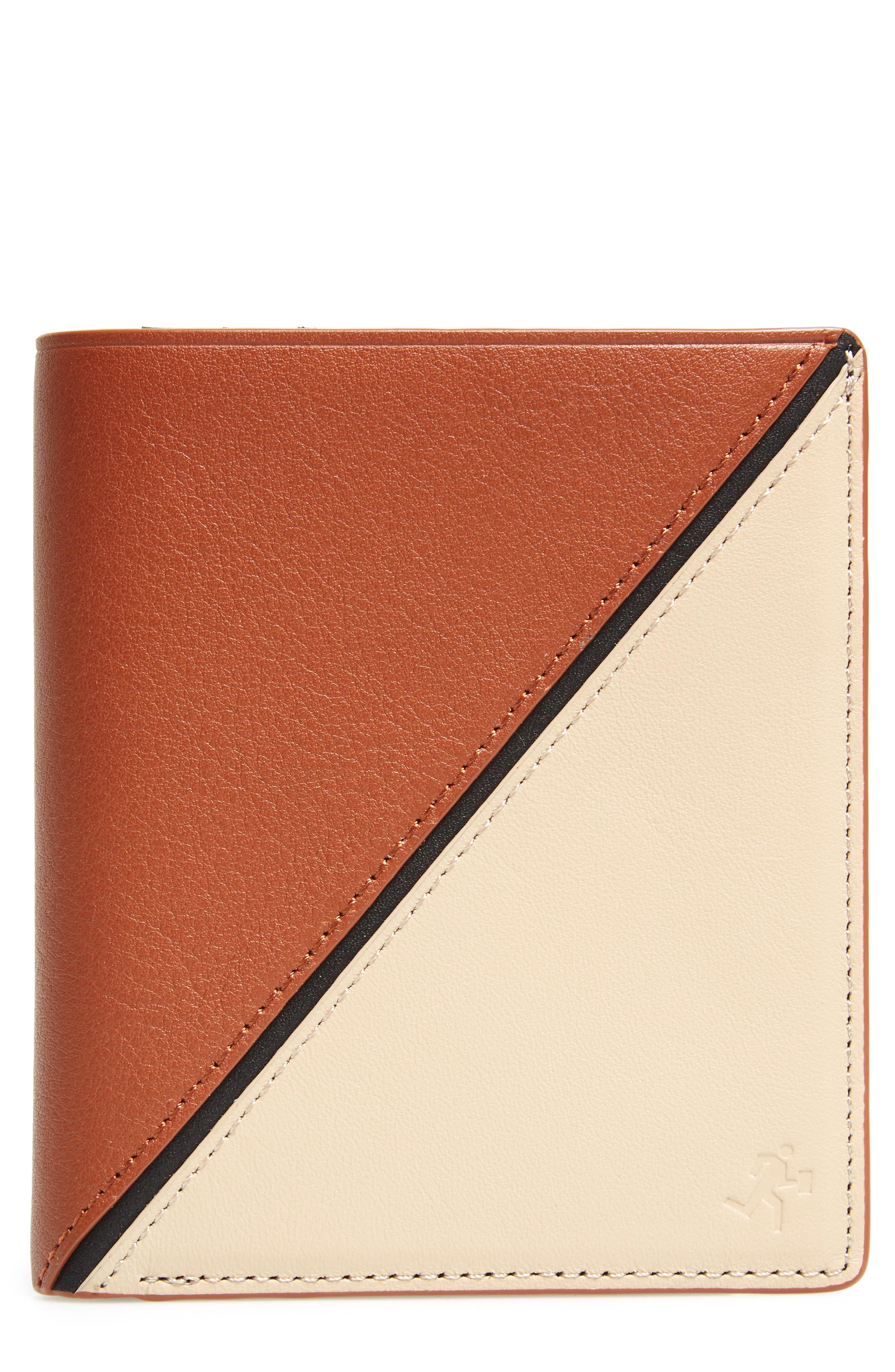 Bradley Bifold Leather Wallet,                         Main,                         color, Multi Sand