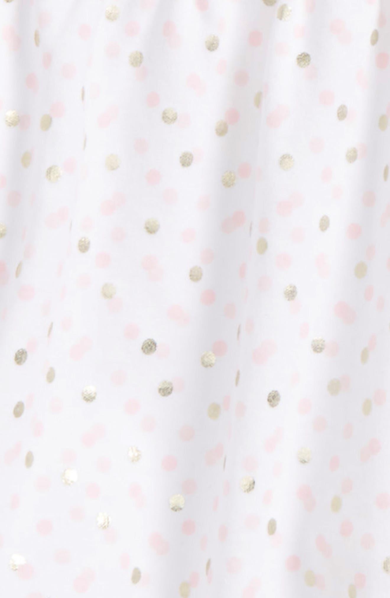 Alternate Image 2  - Little Me Shimmer Dot Tunic, Leggings & Headband Set (Baby Girls)