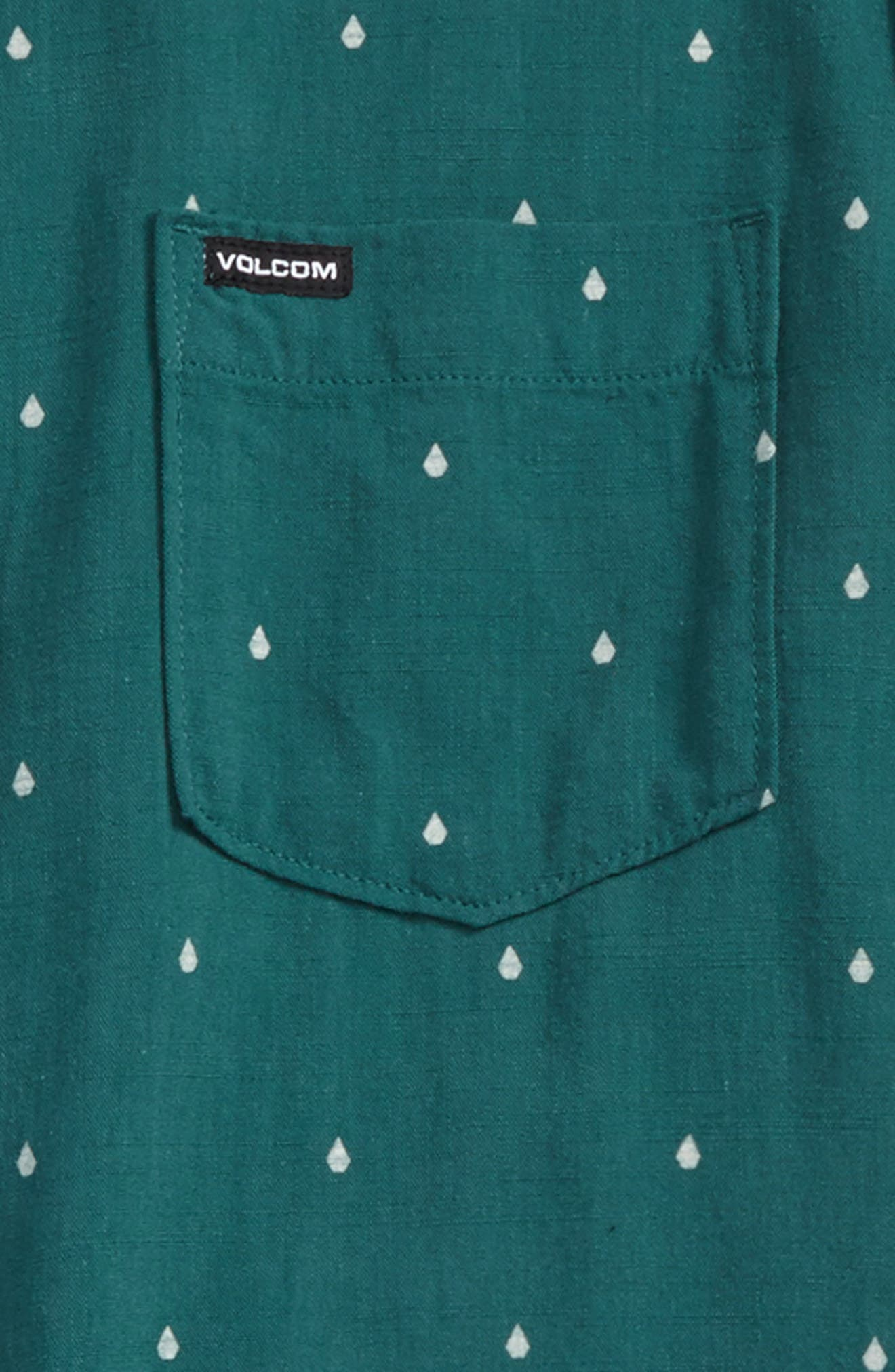 Stone Logo Jacquard Shirt,                             Alternate thumbnail 2, color,                             Green