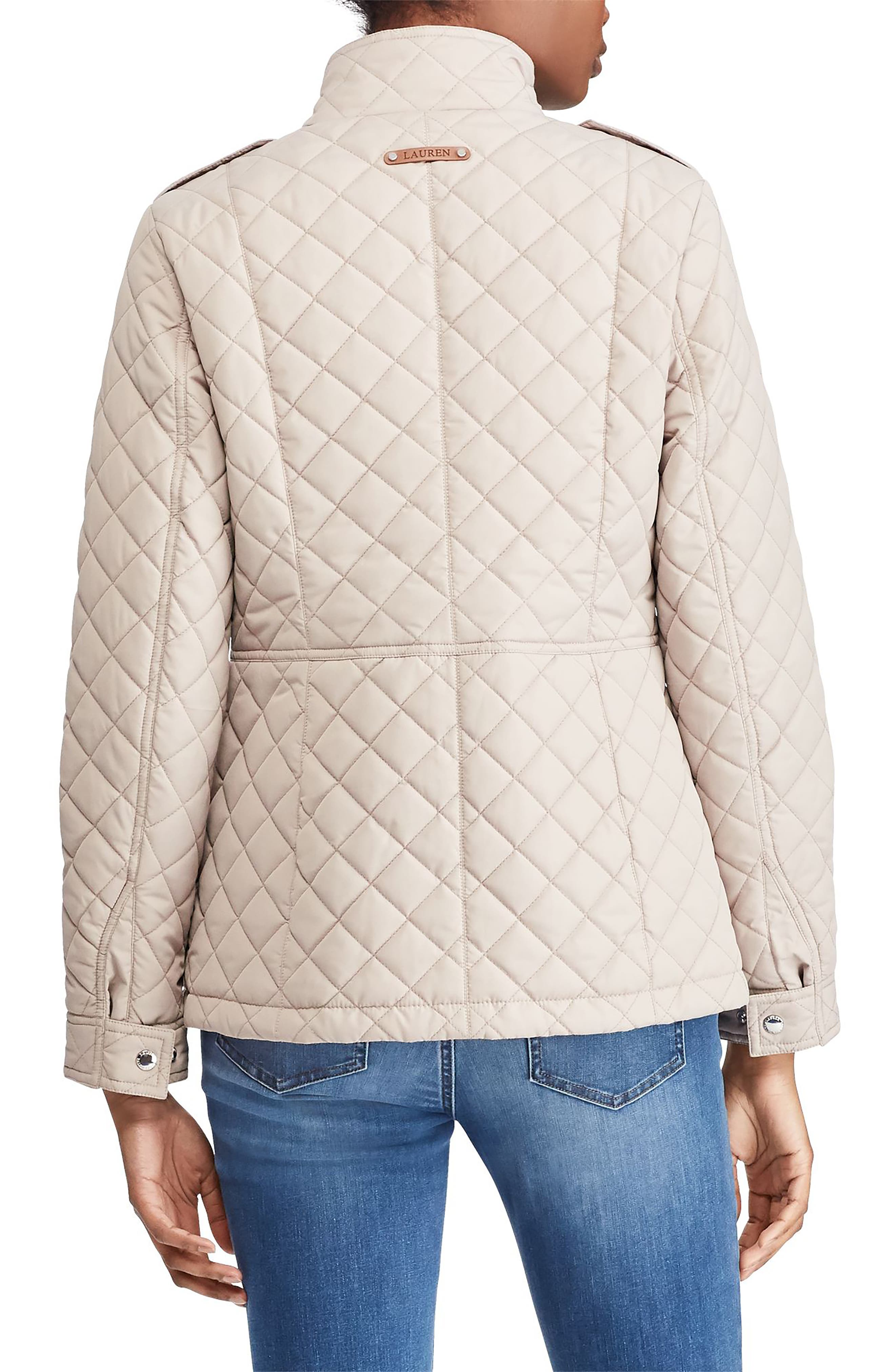 Quilted Field Jacket,                             Alternate thumbnail 2, color,                             Luxe Chino
