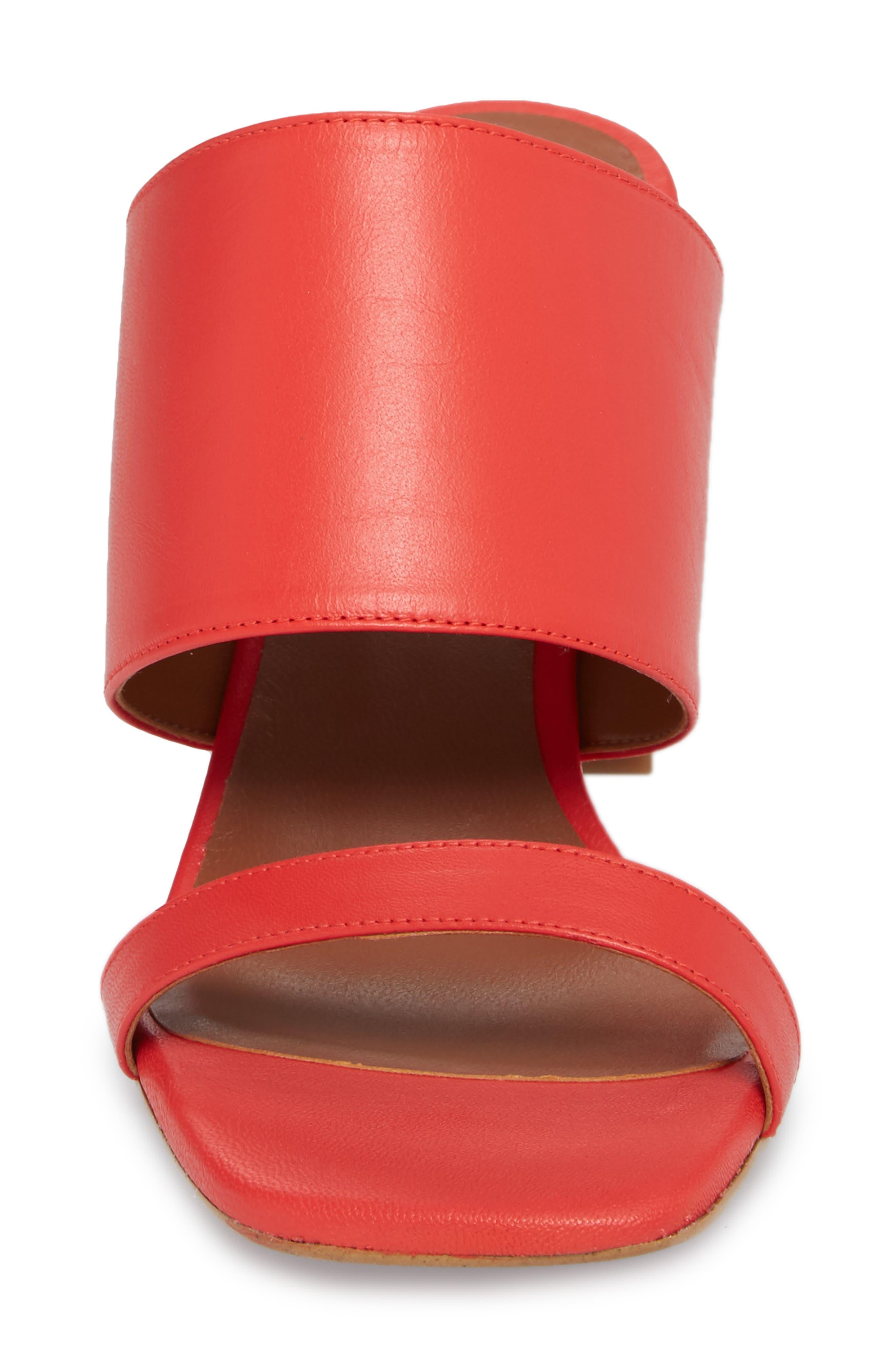 Nickle Mule Sandal,                             Alternate thumbnail 4, color,                             Red