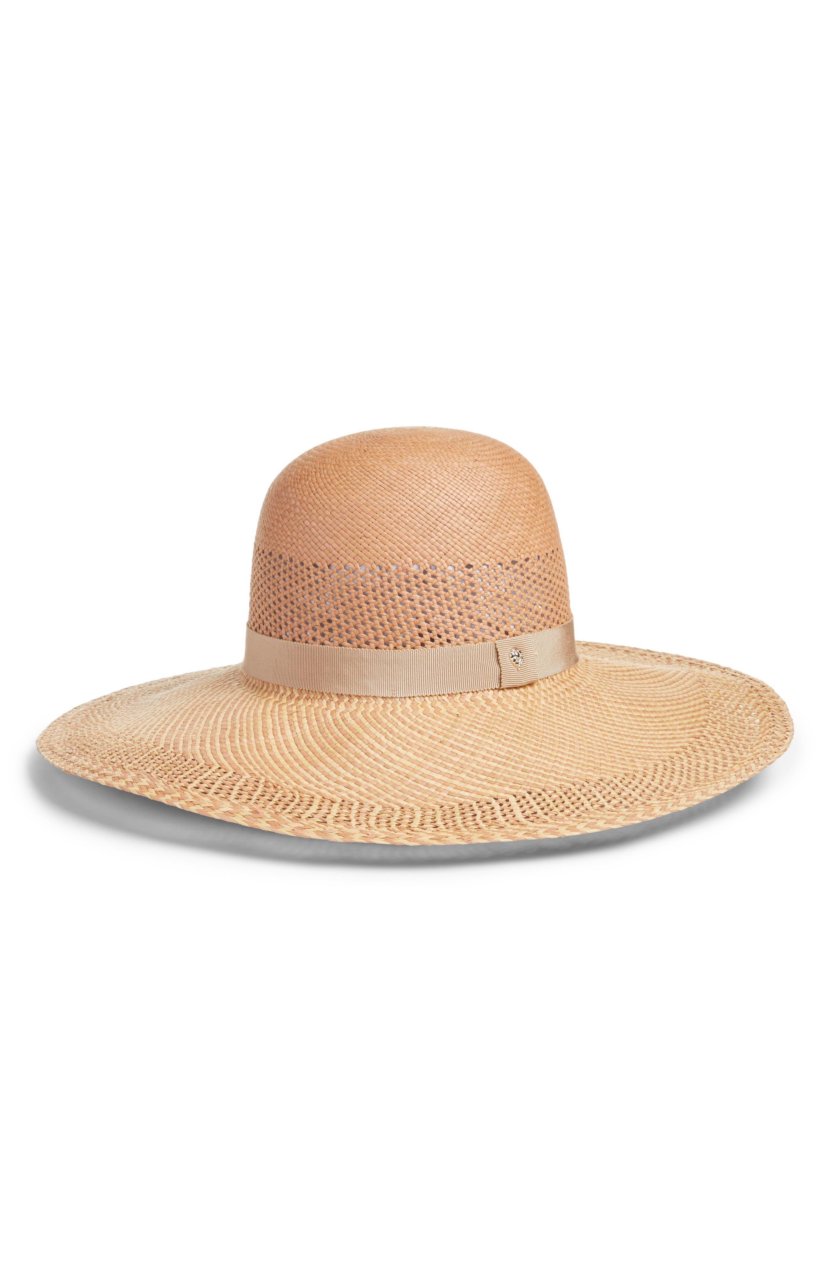 Azuay Palm Sun Hat,                             Main thumbnail 1, color,                             Rosetta Almond/ Nude