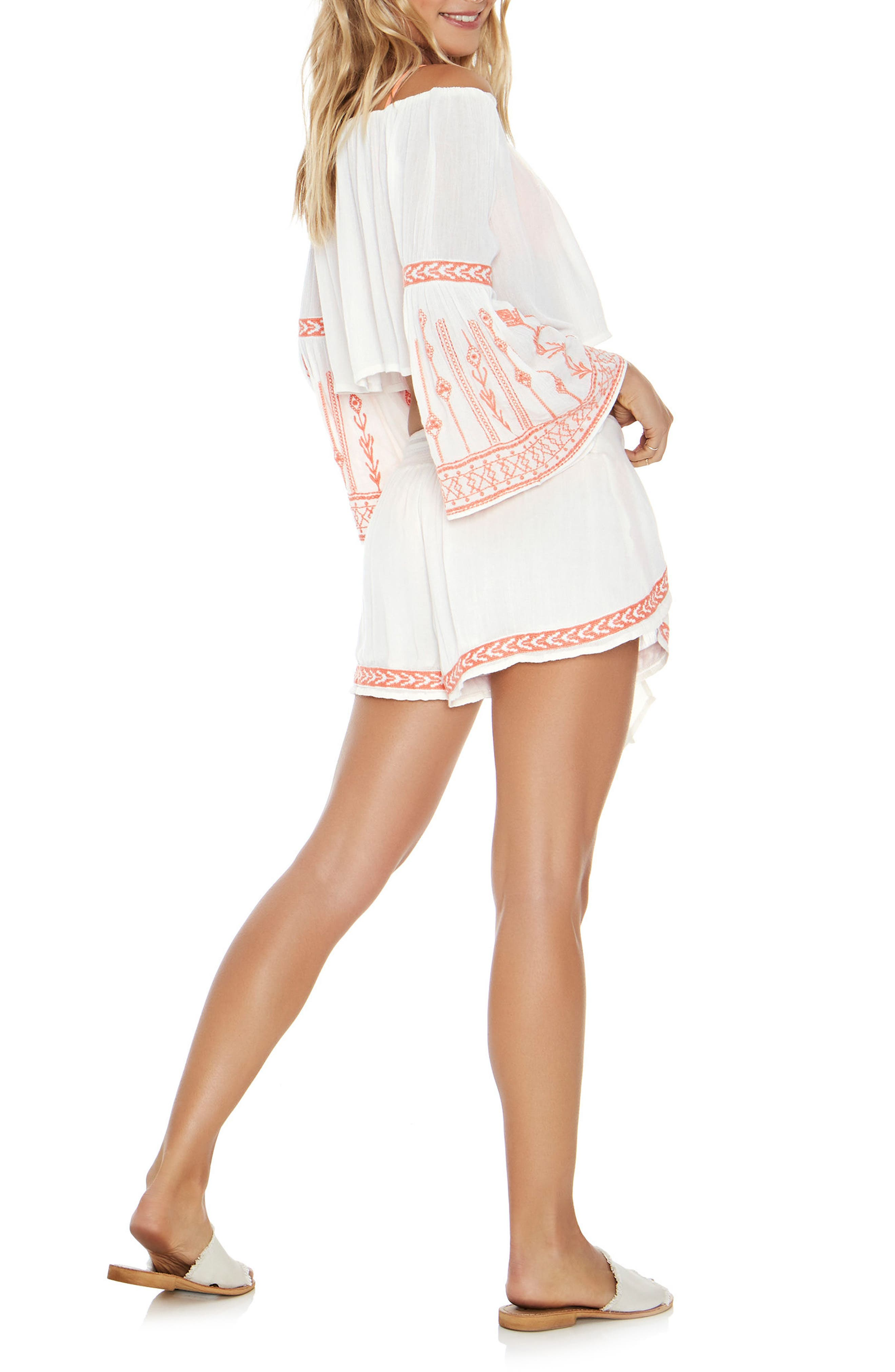 Crawford Cover-Up Top,                             Alternate thumbnail 5, color,                             Ivory