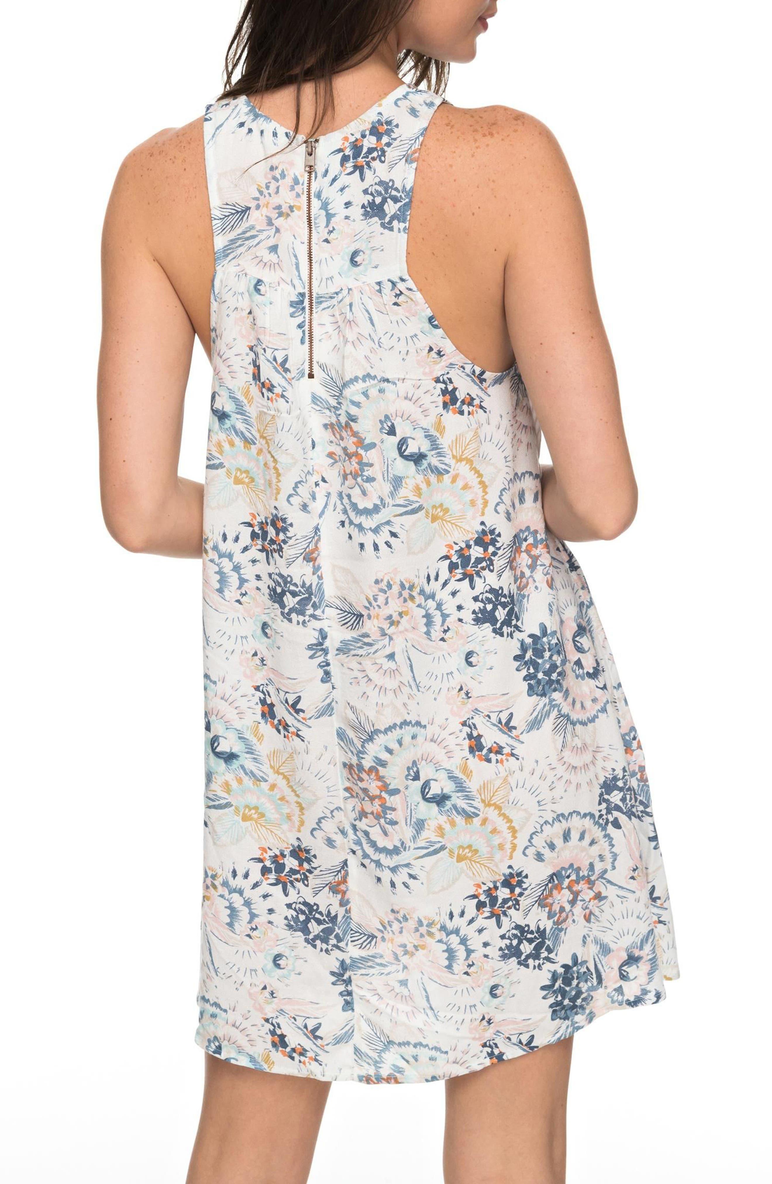 Sweet Seas Trapeze Dress,                             Alternate thumbnail 3, color,                             Marshmallow Mahna Mahna